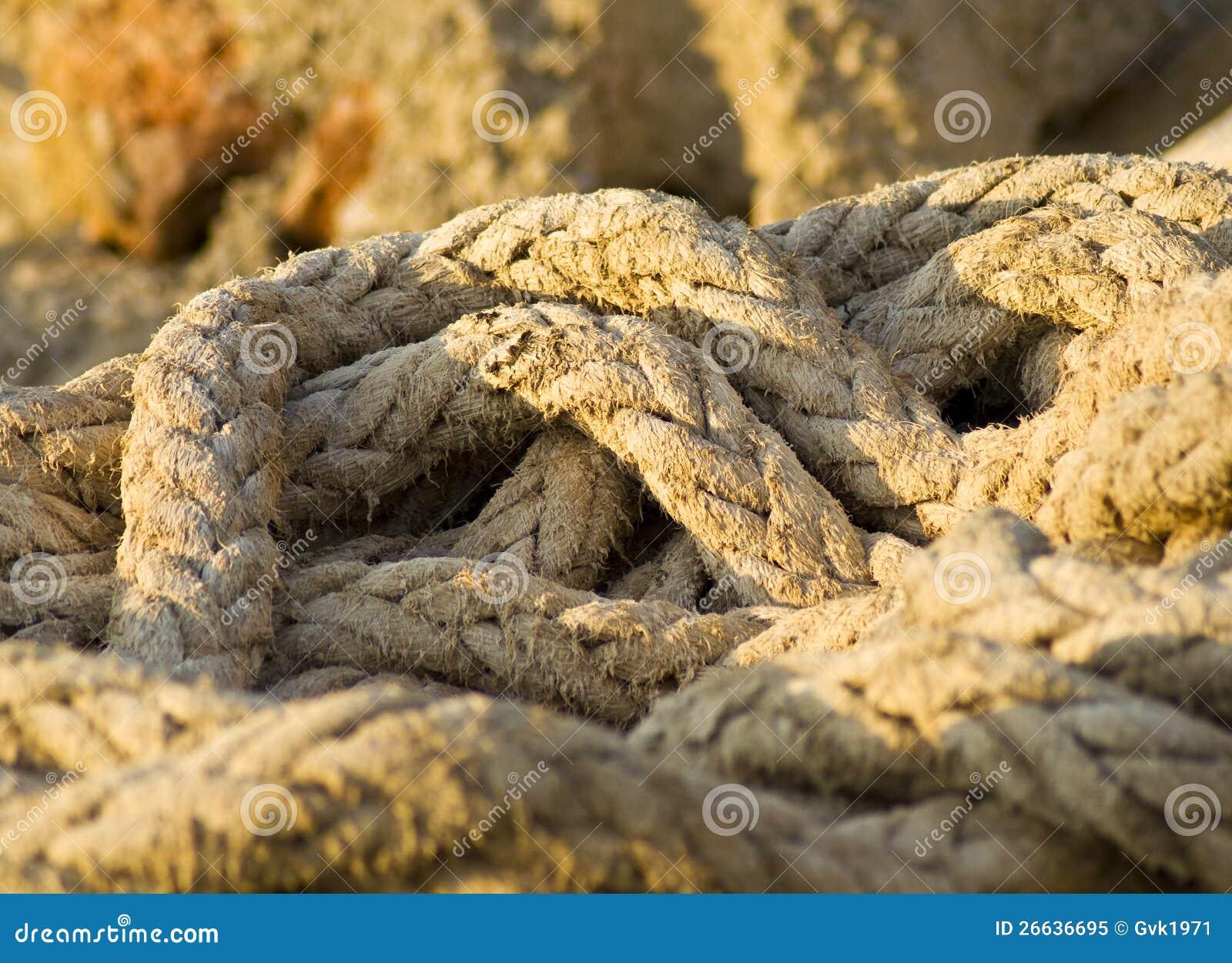 Old Marine Rope Royalty Free Stock Photo - Image: 26636695