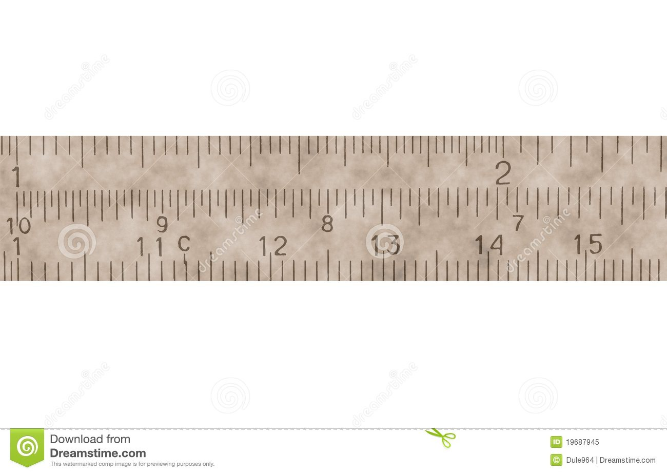 Old Measure In Centimeters, Millimeters, Isolated Royalty Free Stock ...