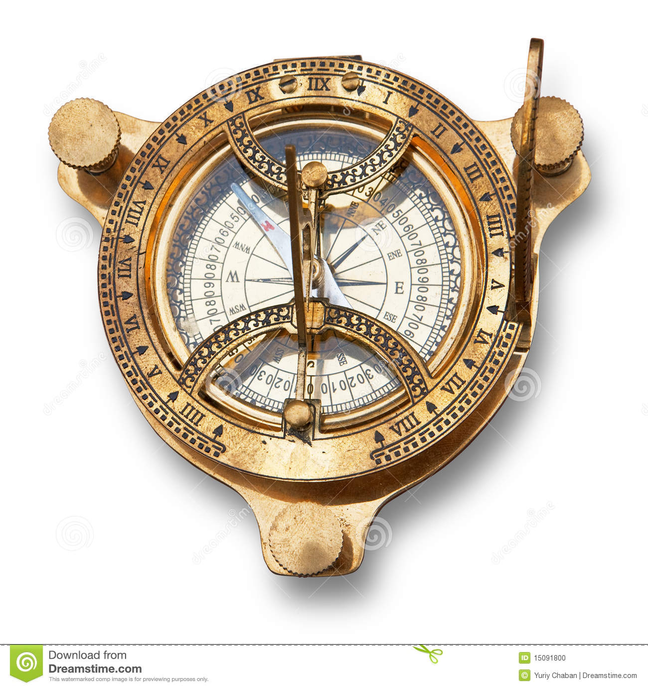 Time Measuring Instruments : Old measuring instrument for navigation royalty free stock