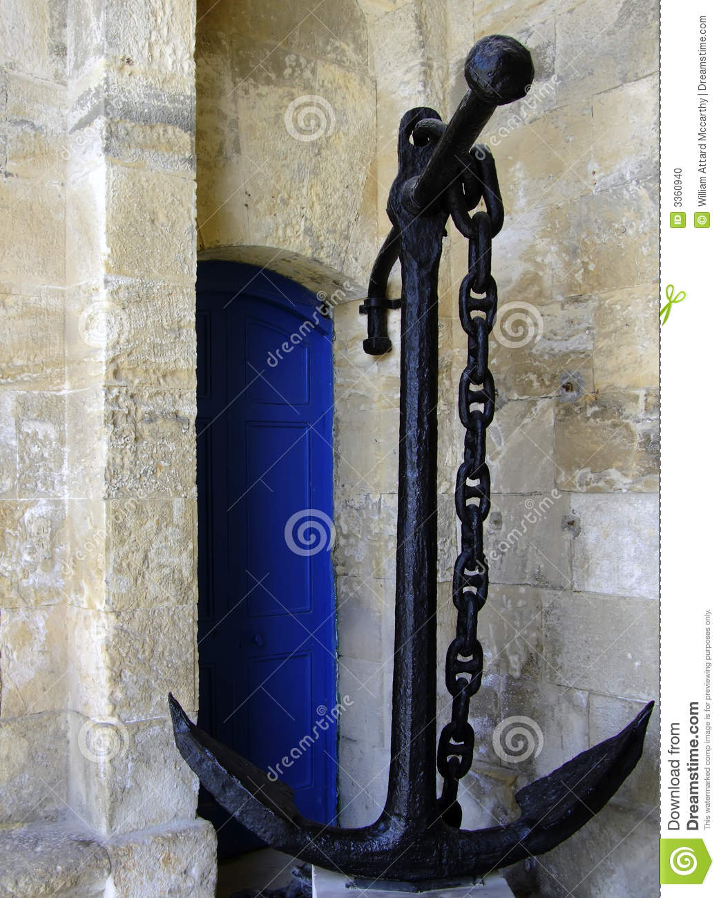 Old Medieval Anchor Stock Photo