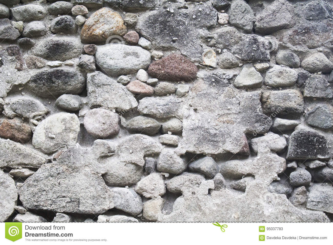 Medieval Fortification Photo Texture Rustic Stone Wall With Cement Plaster Durable Paving Of Old Building Grey For Wallpaper Or Background