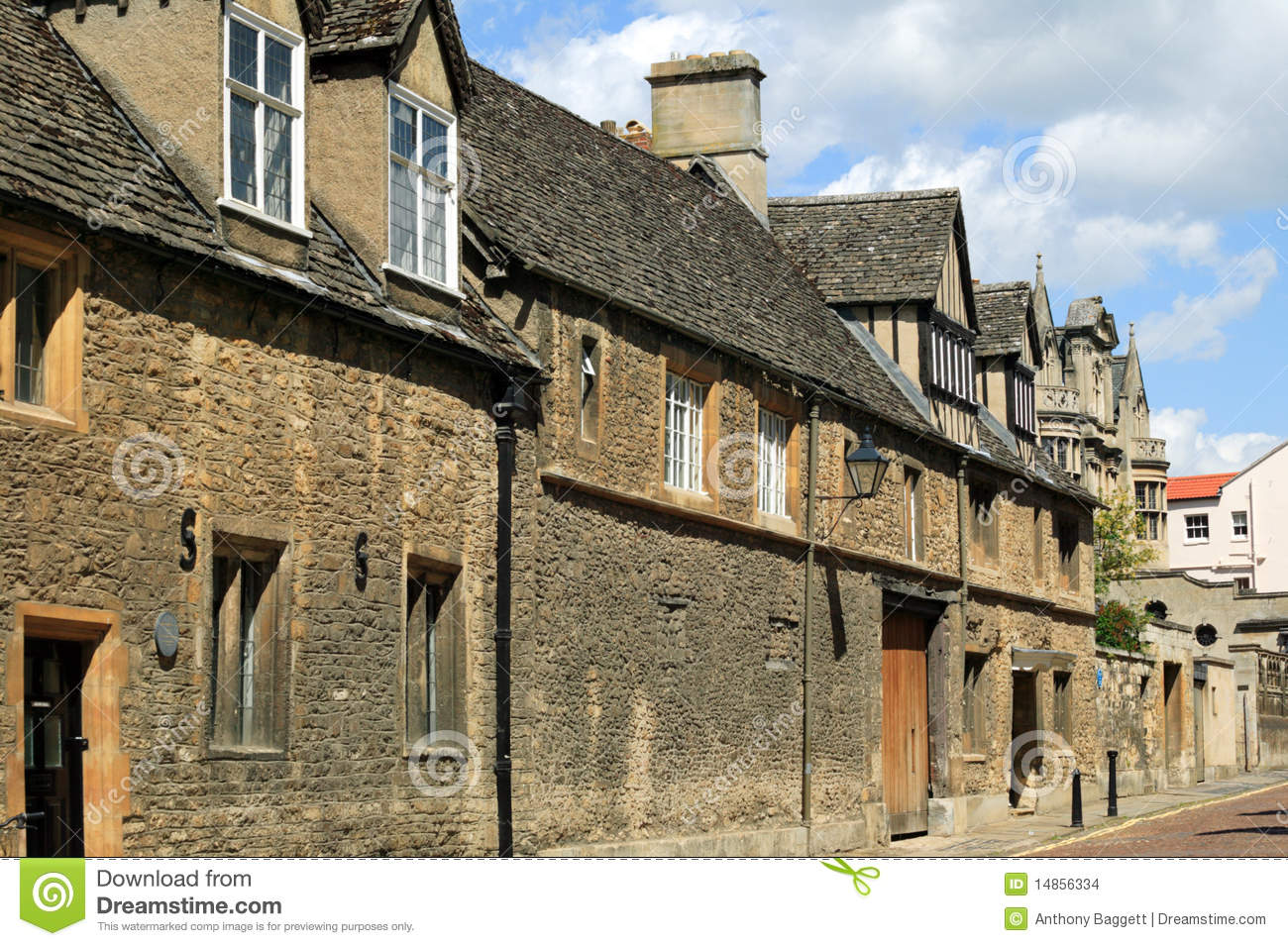 Old Medieval Street In The University City Of Oxford