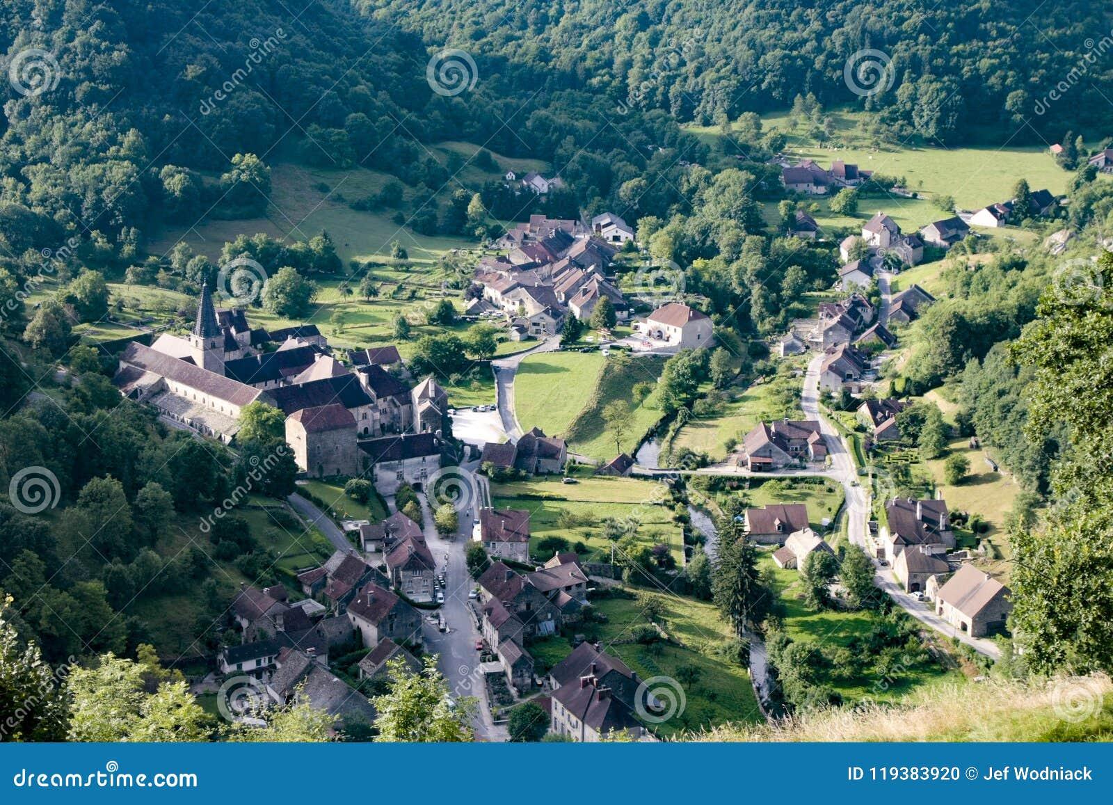Old medieval village of Baume les Messieurs in France