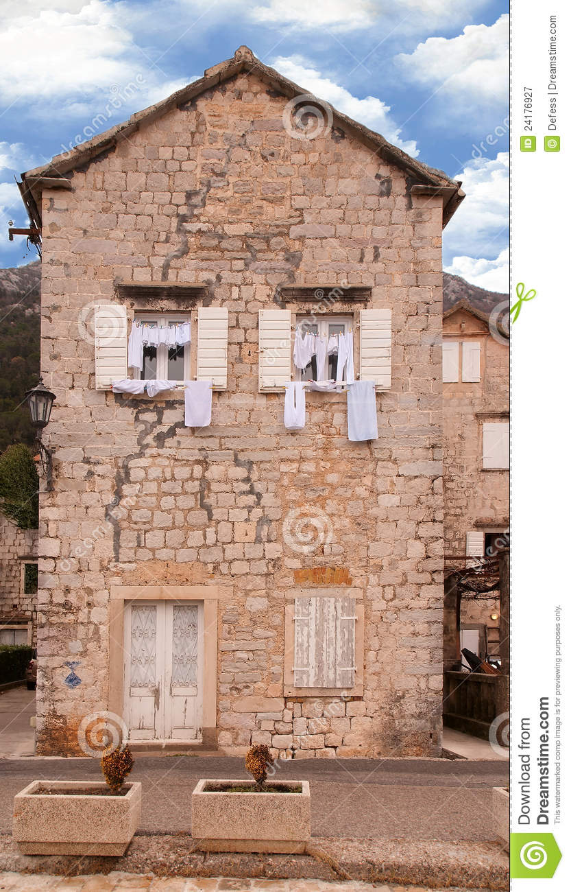 the old mediterranean house royalty free stock photography