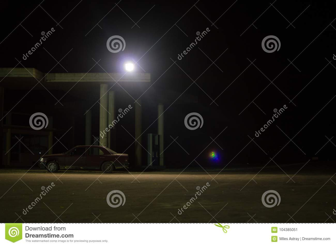 Abandoned Gas Station Night Photos Free Royalty Free Stock Photos From Dreamstime