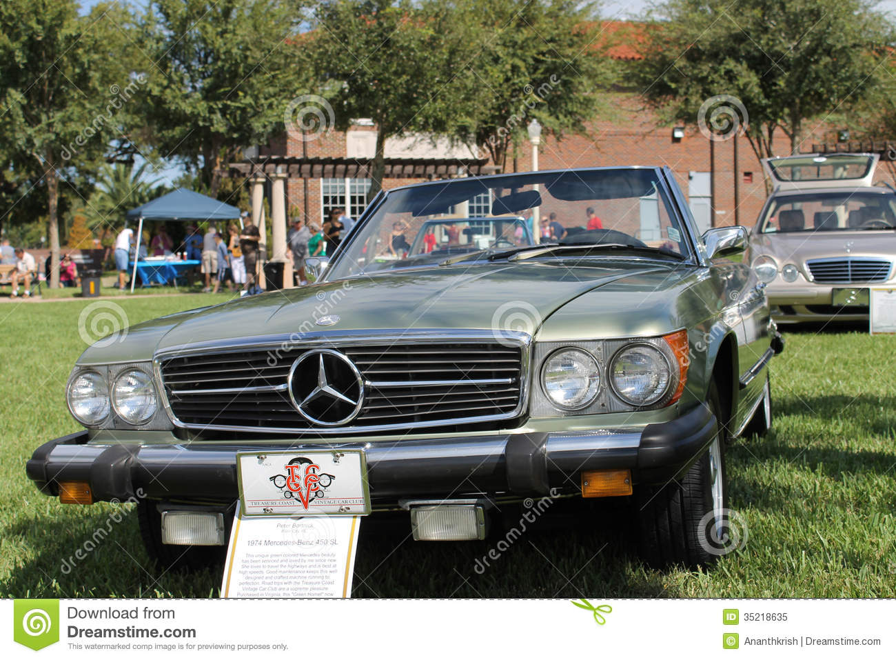 Old mercedes benz 450 sl car at the car show editorial - Mercedes car show ...