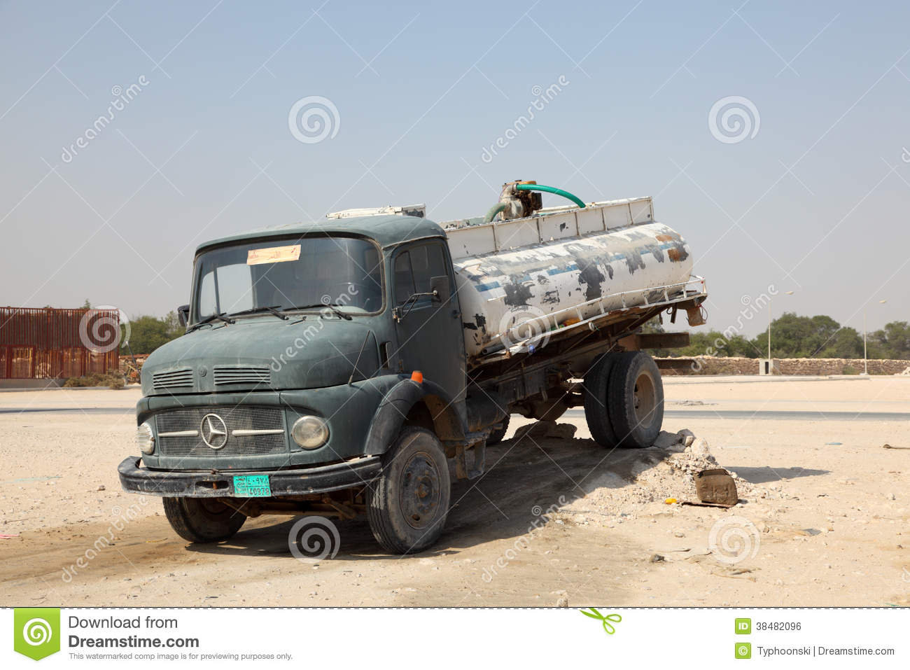 Old mercedes benz water truck editorial photo image of for Old mercedes benz trucks