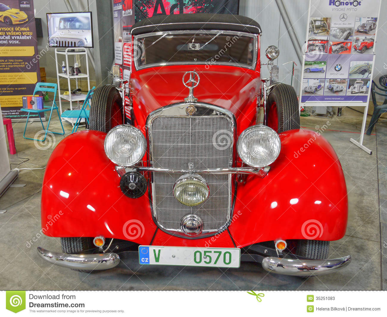 Old Mercedes Car Editorial Stock Photo Image 35251083