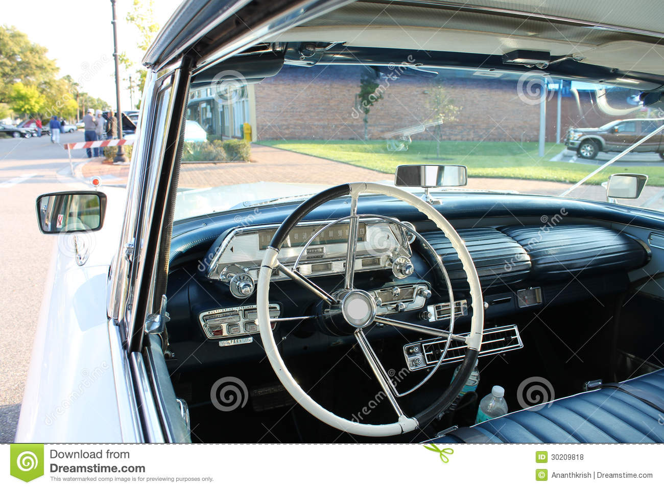 old mercury car interior look royalty free stock photos image 30209818. Black Bedroom Furniture Sets. Home Design Ideas