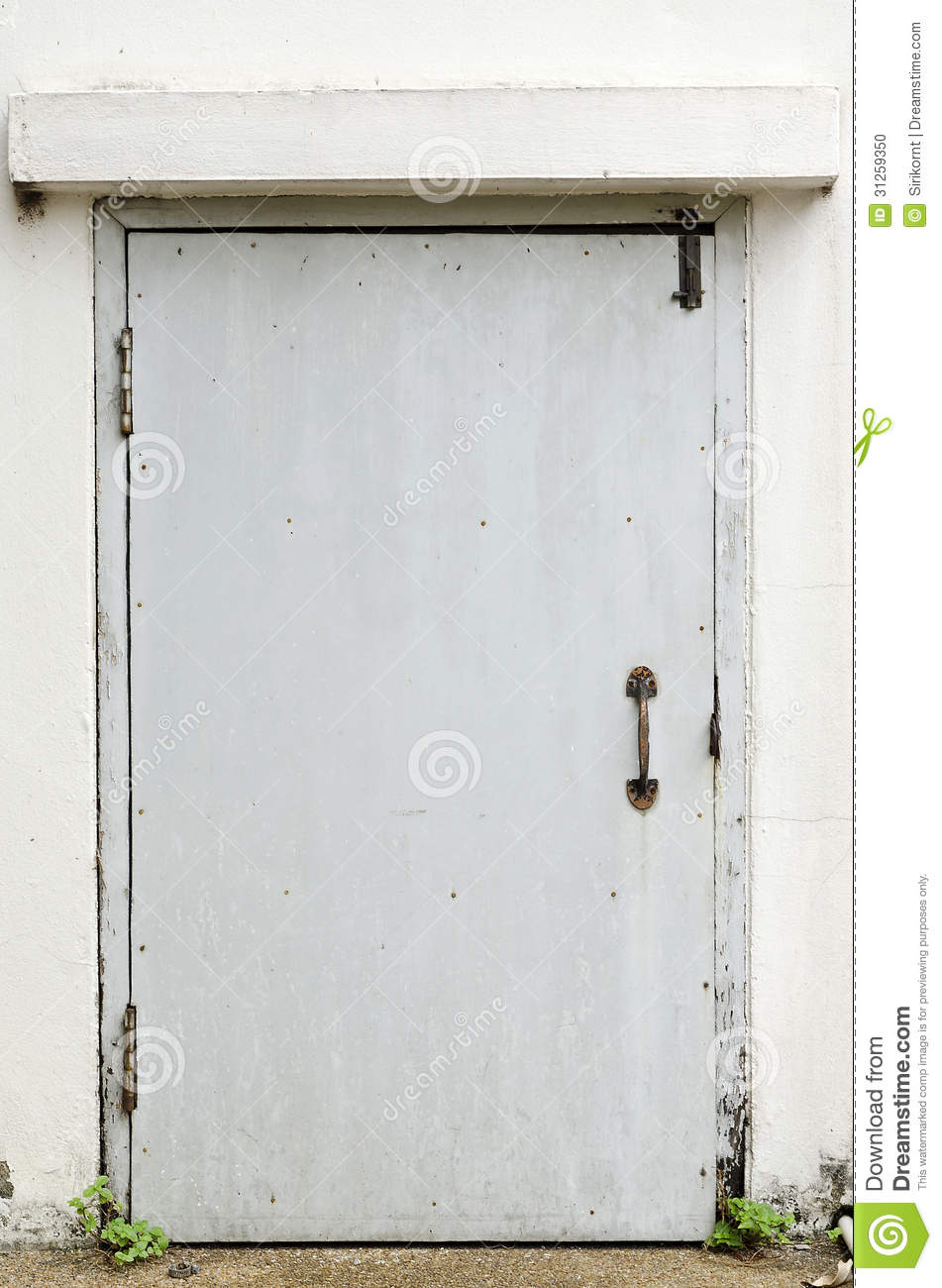 old metal back door stock photo image 31259350 On metal back door