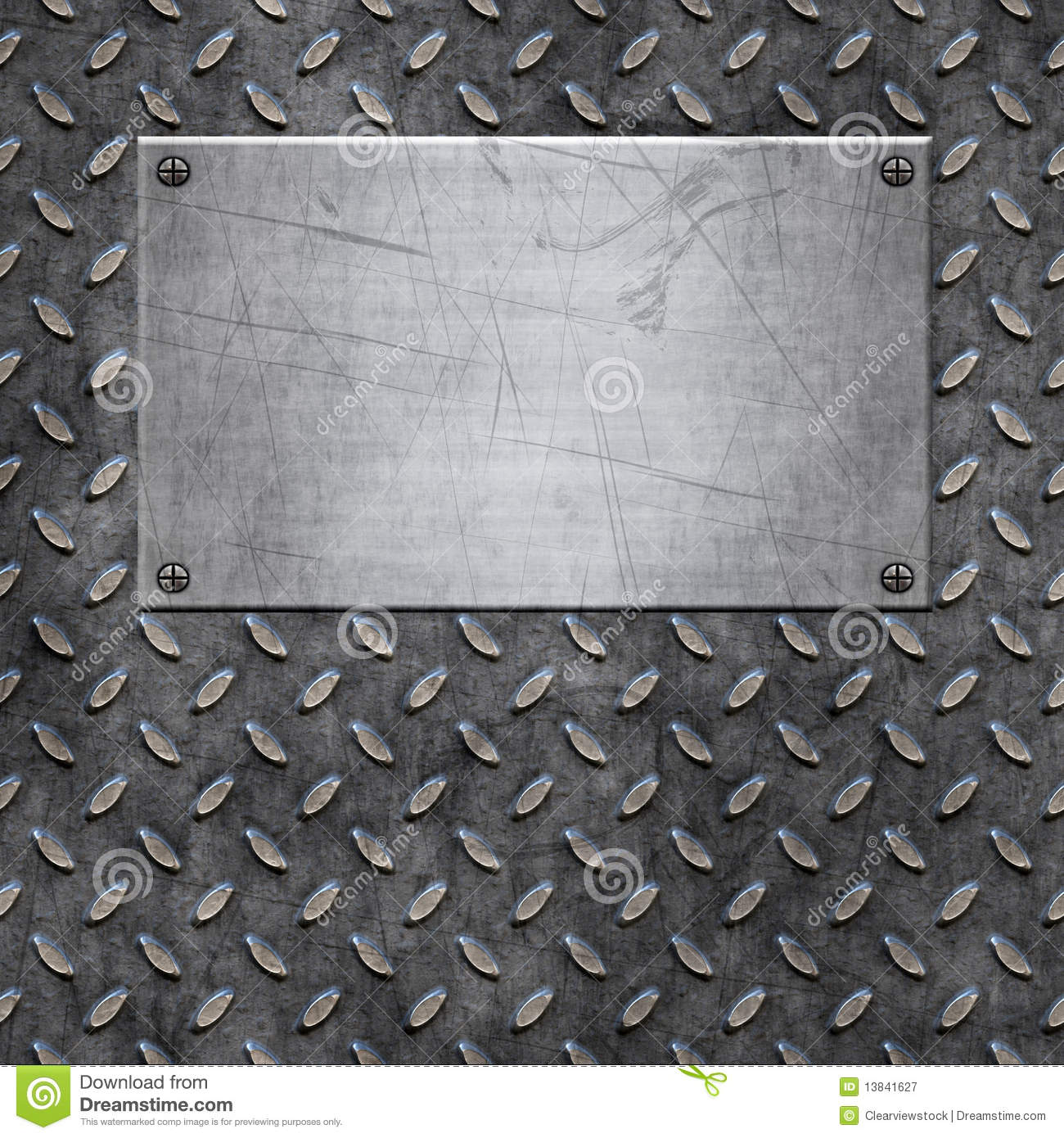 Old Metal Background Texture Stock Vector Illustration Of