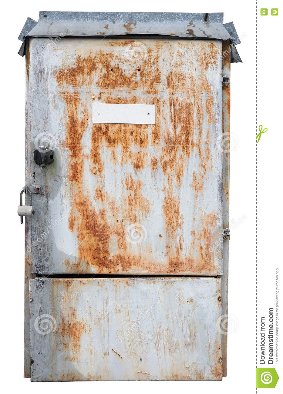 Old Metal Box For Electrical Fuses Stock Photo Image Of System Electical