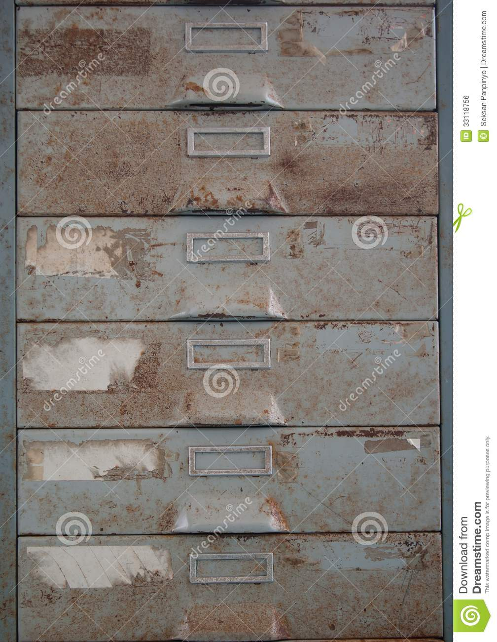 Old Metal File Cabinet Is Rust Royalty Free Stock Image