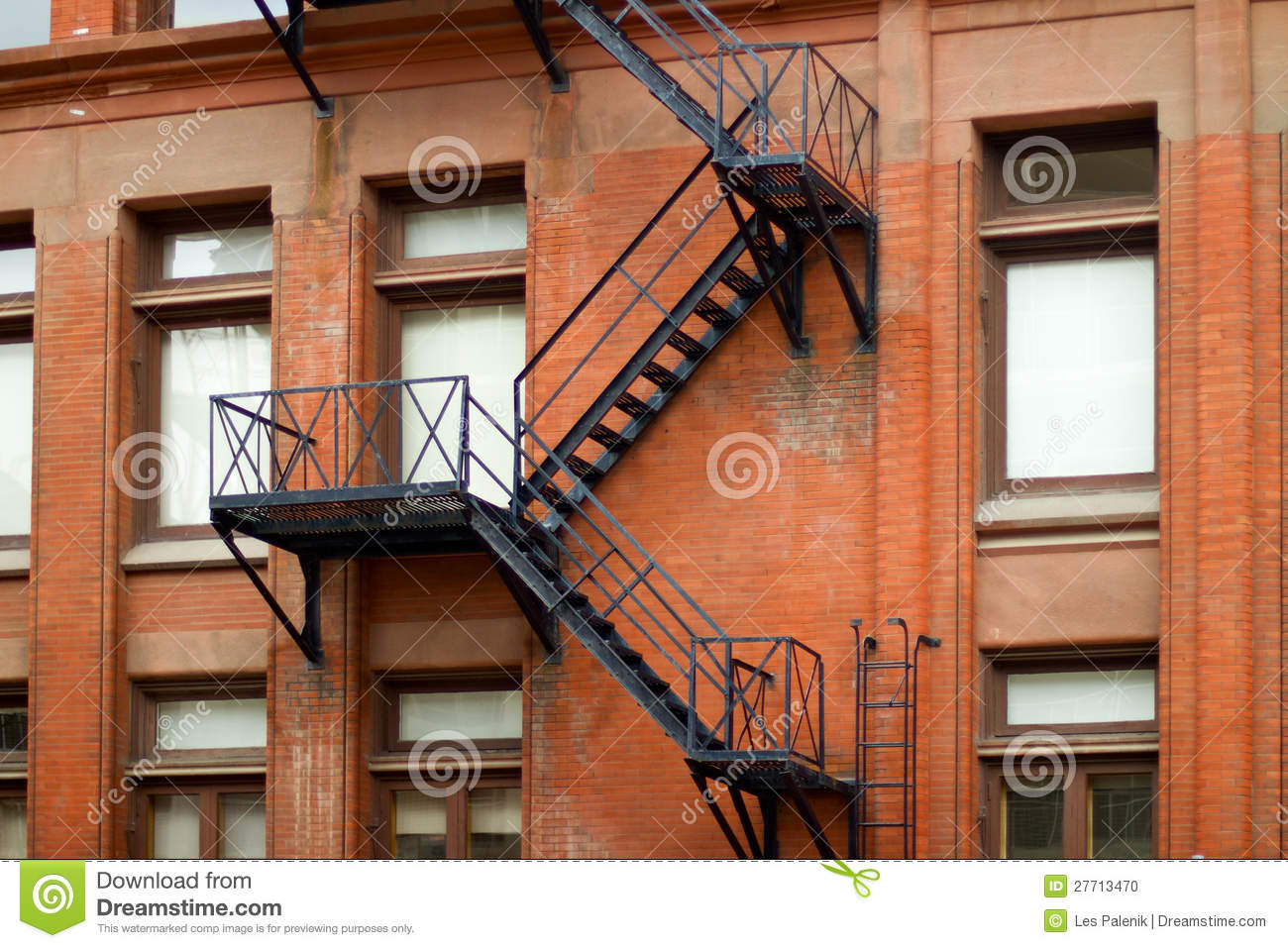 Etonnant Old Metal Fire Escape Staircase