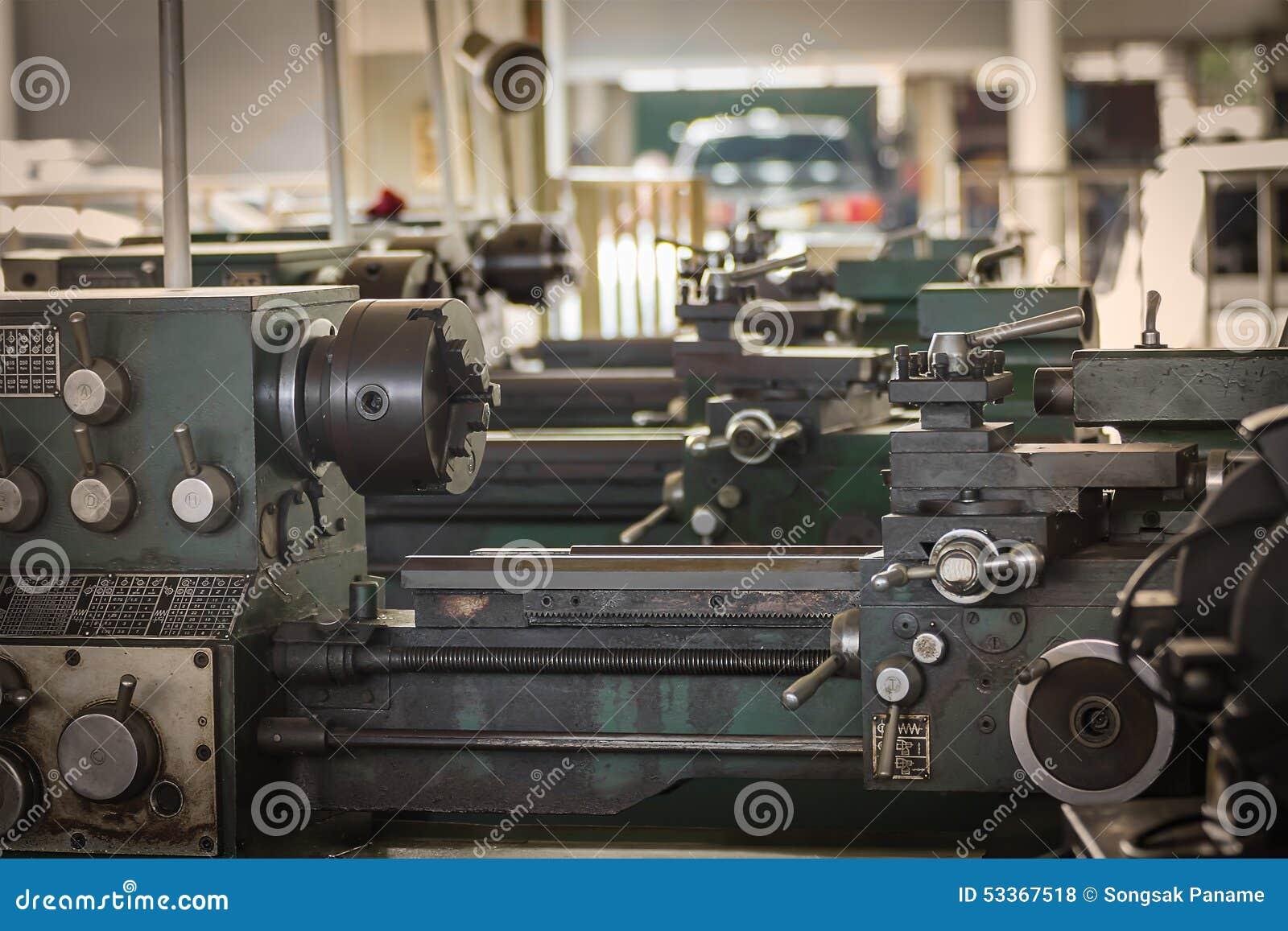 Old Metal Lathe Machine Stock Photo Image Of Plant