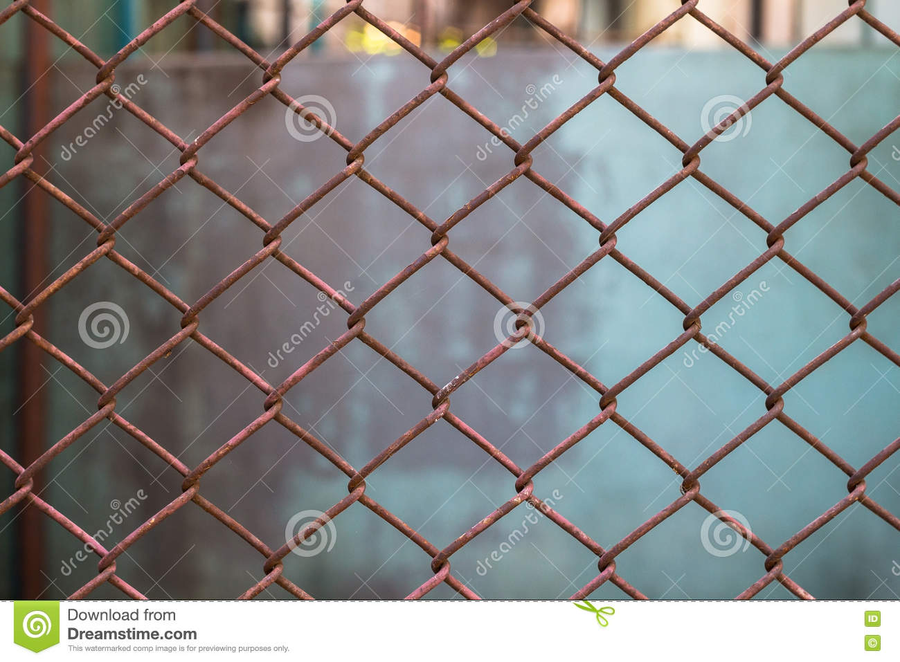 Old Metal Mesh Wire Fence With Blur Background Stock Image - Image ...