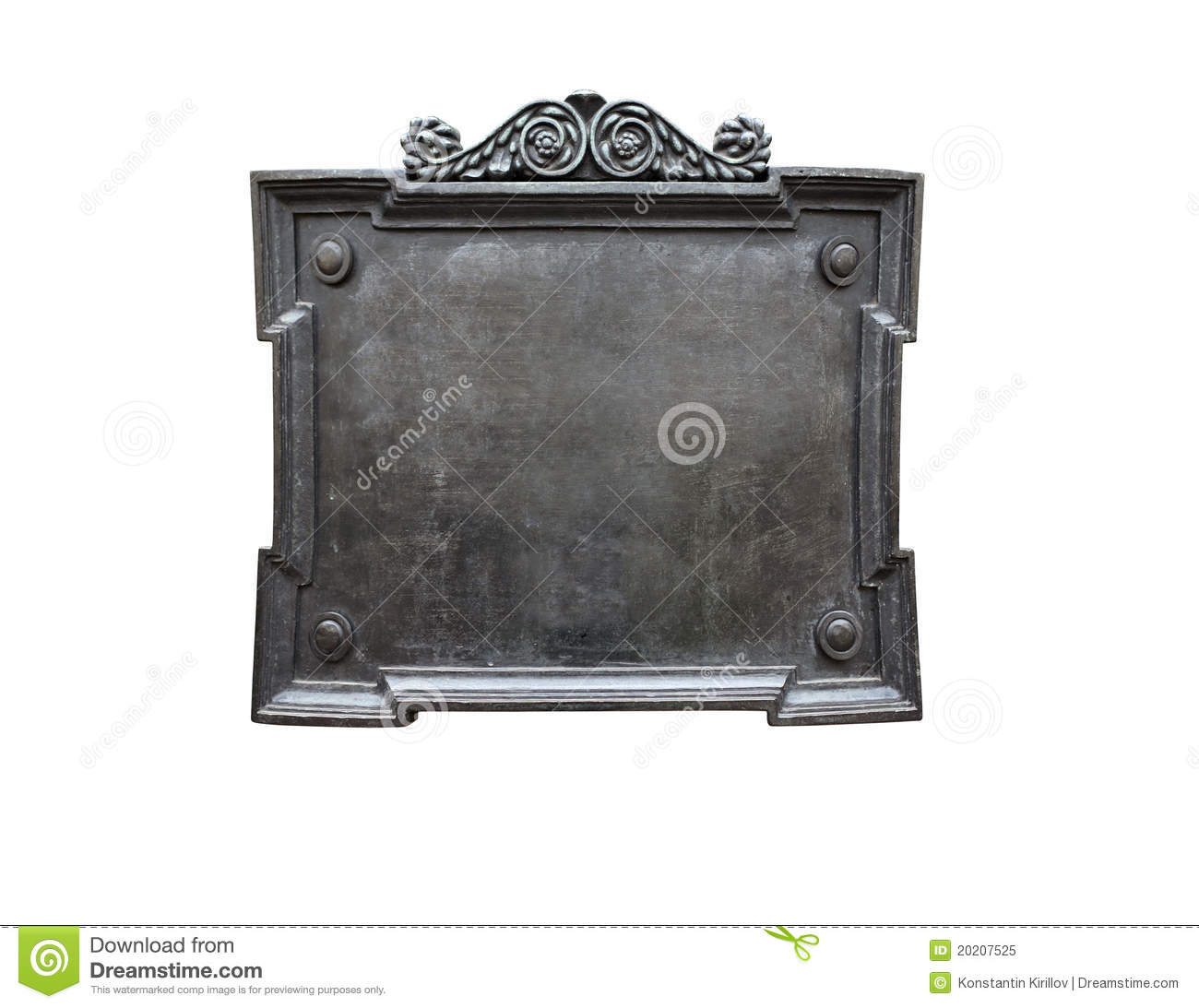 old metal plaque royalty free stock photo image 20207525. Black Bedroom Furniture Sets. Home Design Ideas