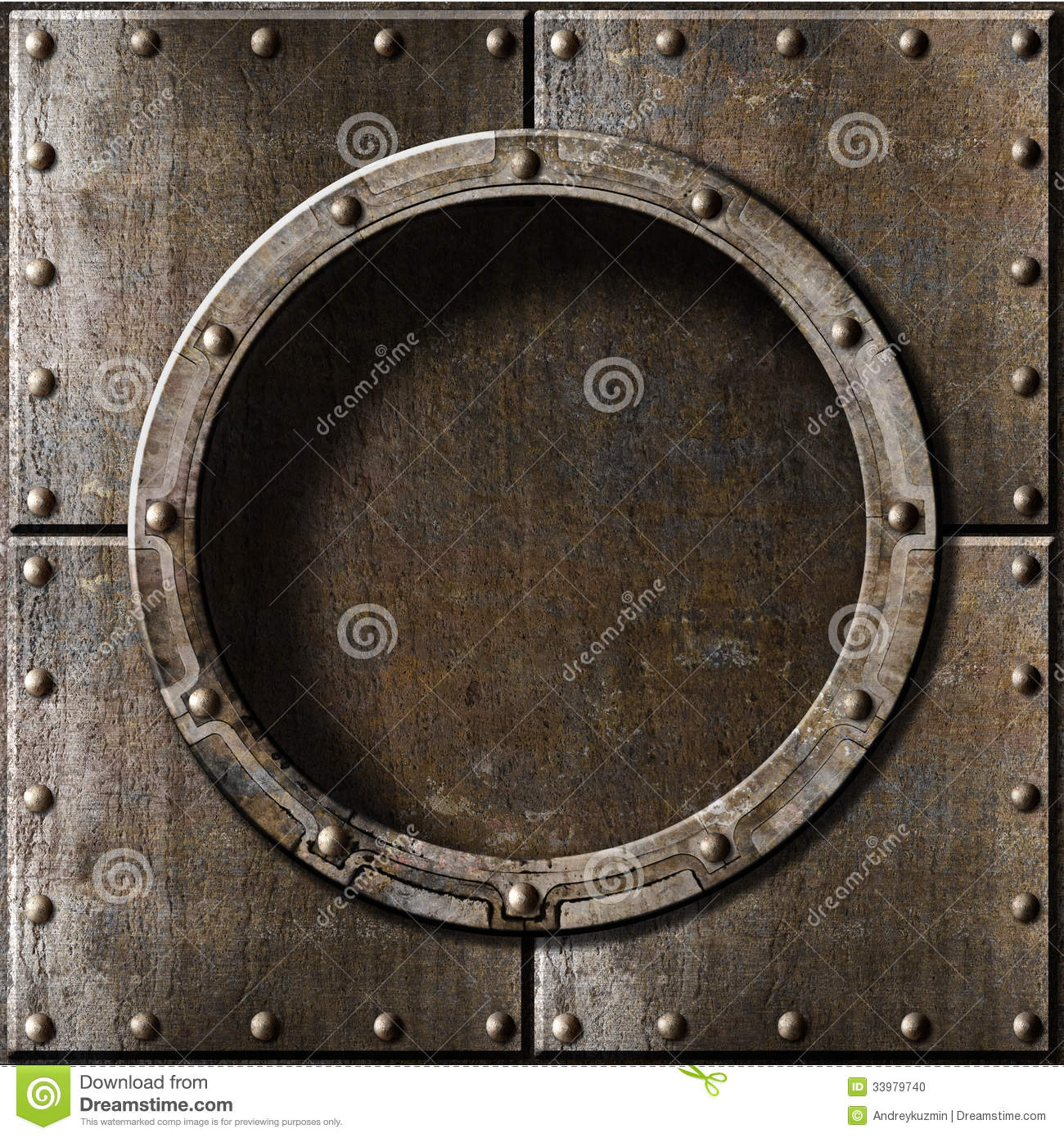 Old Metal Porthole Background Stock Photo Image 33979740