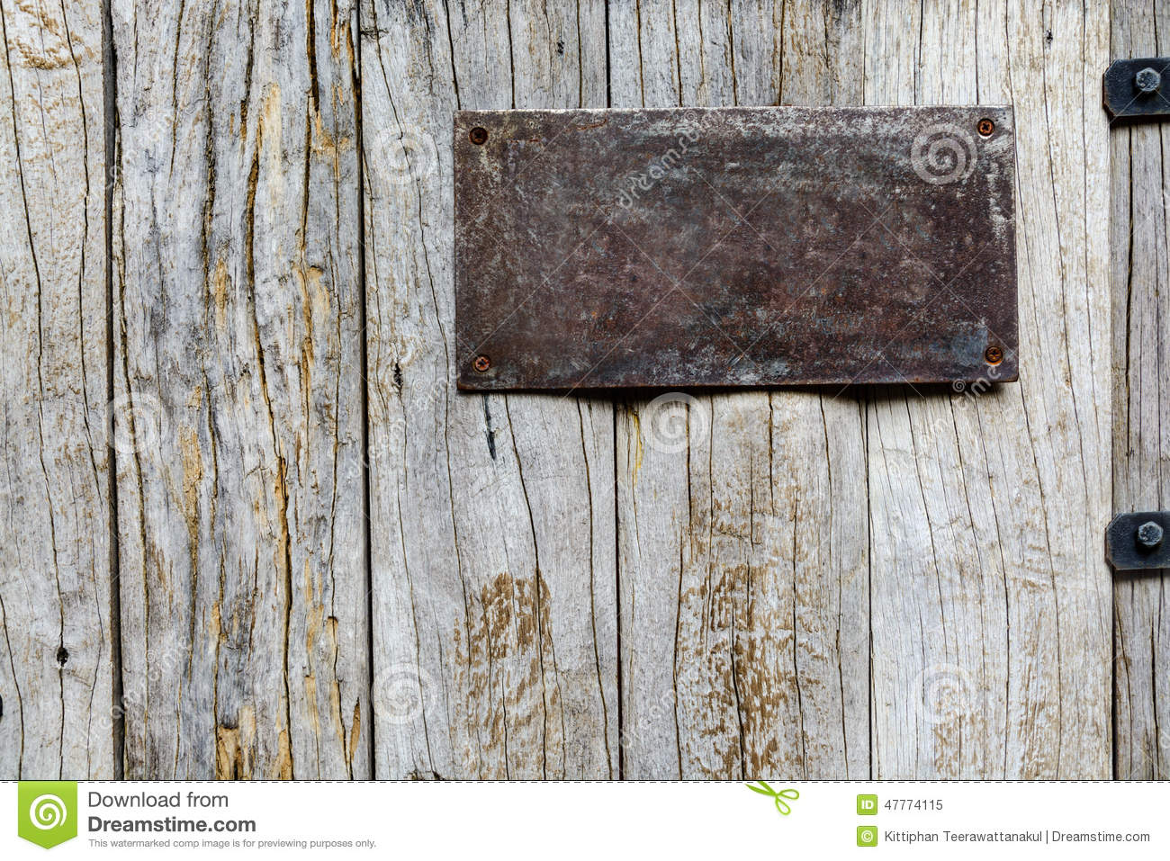 Old Metal Sign On Wood Background Stock Image Image Of