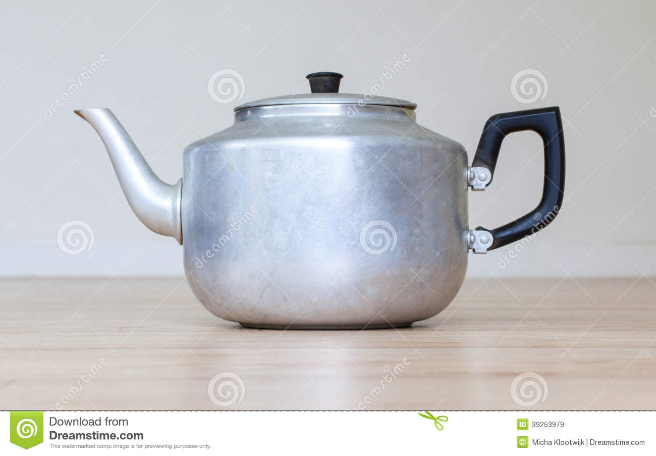 Old metal tea pot stock image. Image of table, drink ...