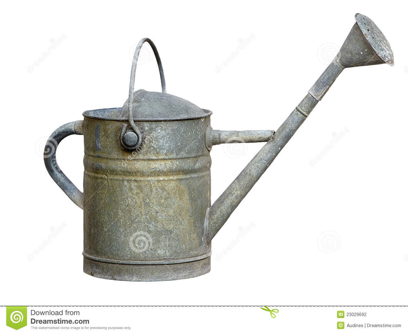 Old metal watering can stock photography image 23029692 - Sprinkling cans ...