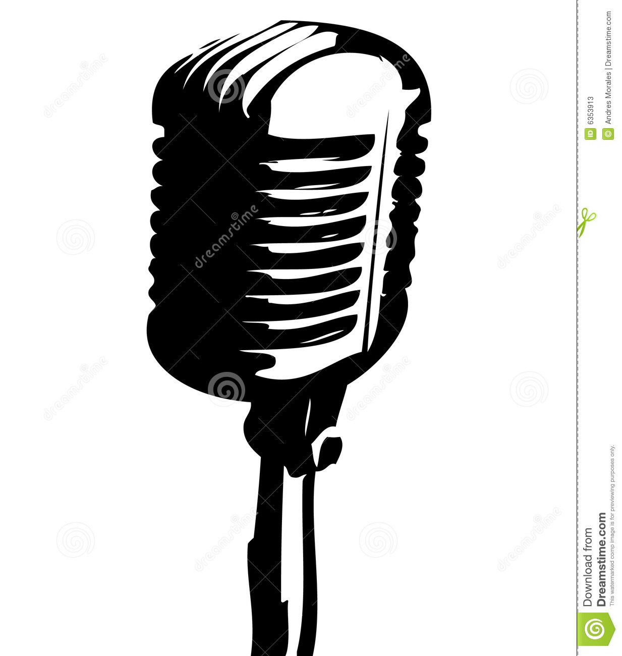 Old Time Microphone By Raqib09 - Microphone Gold Png - Free Transparent PNG  Clipart Images Download