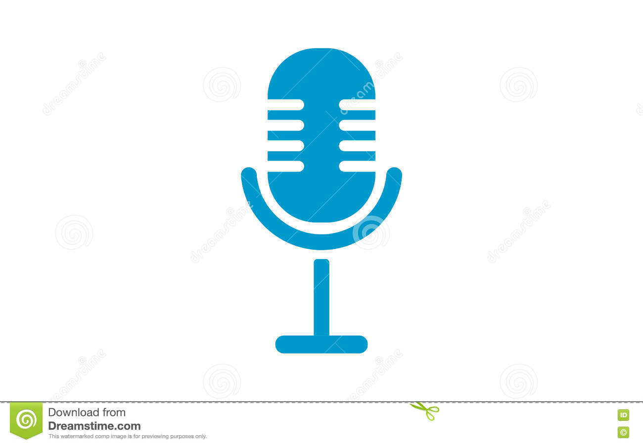 Old Microphone Icon . Microphone Silhouette. Stock Vector ...