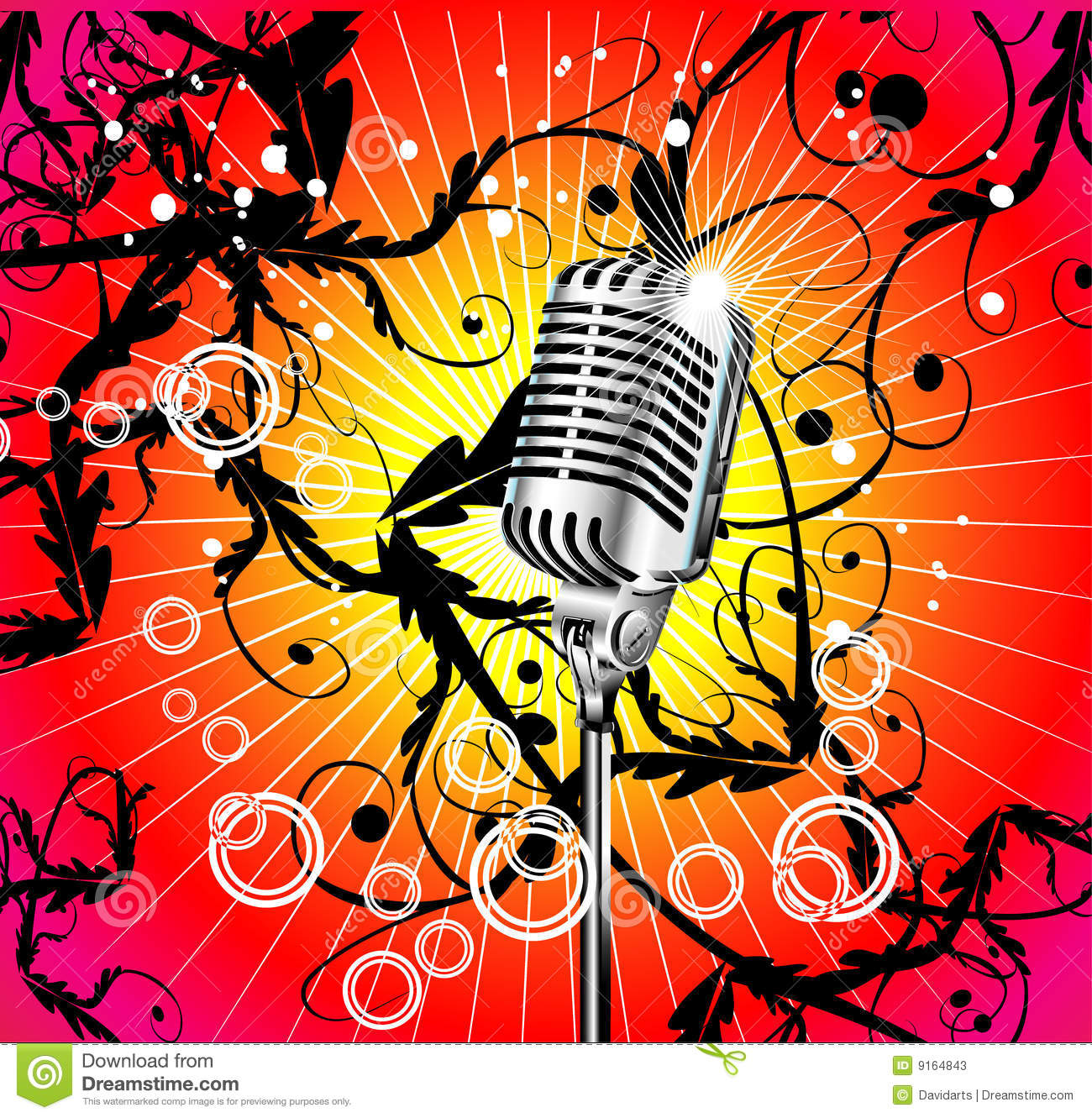 Old Microphone Music Background Stock Photos Image 9164843