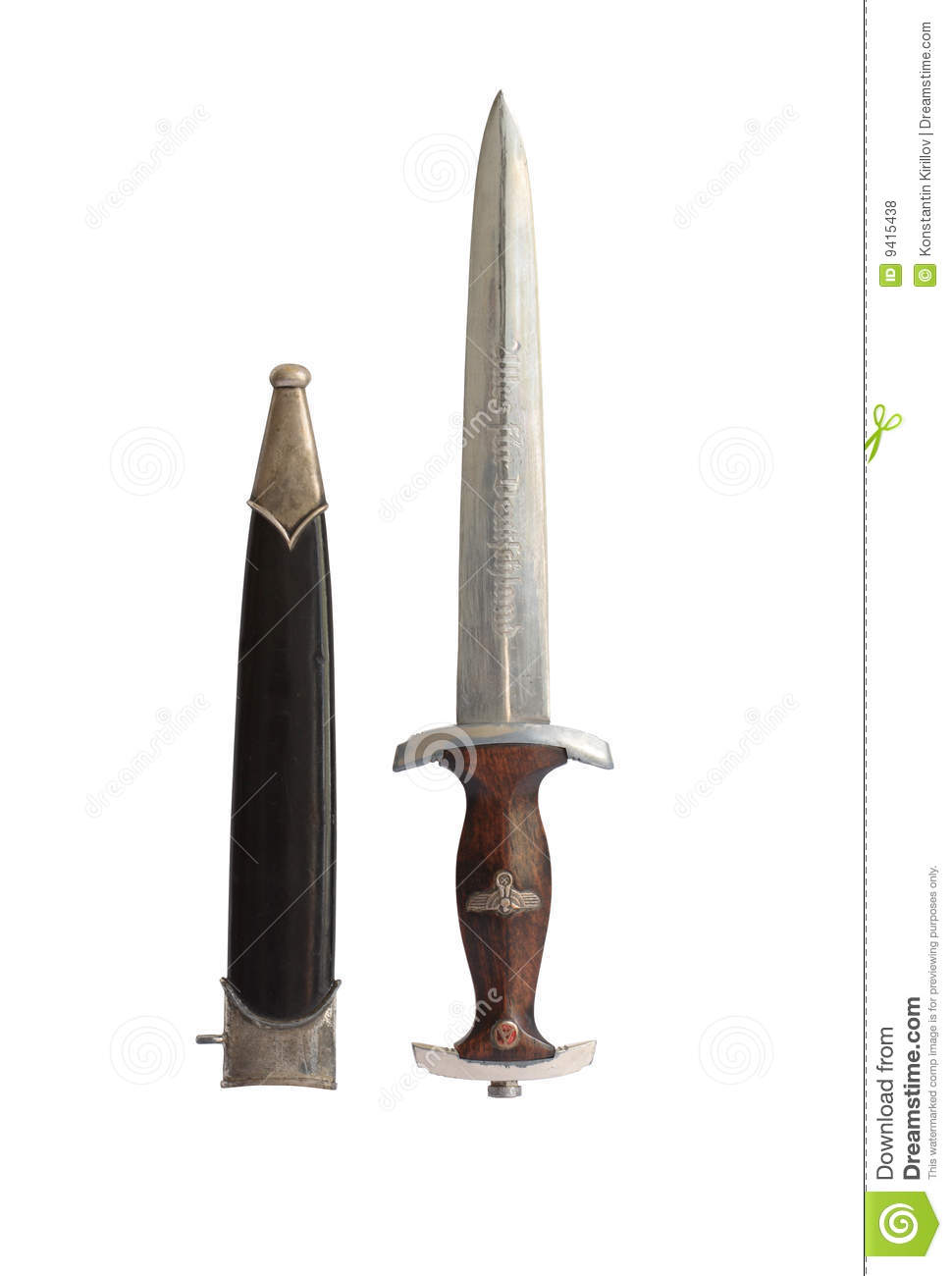 Old Military Dagger stock photo  Image of knife, sheath