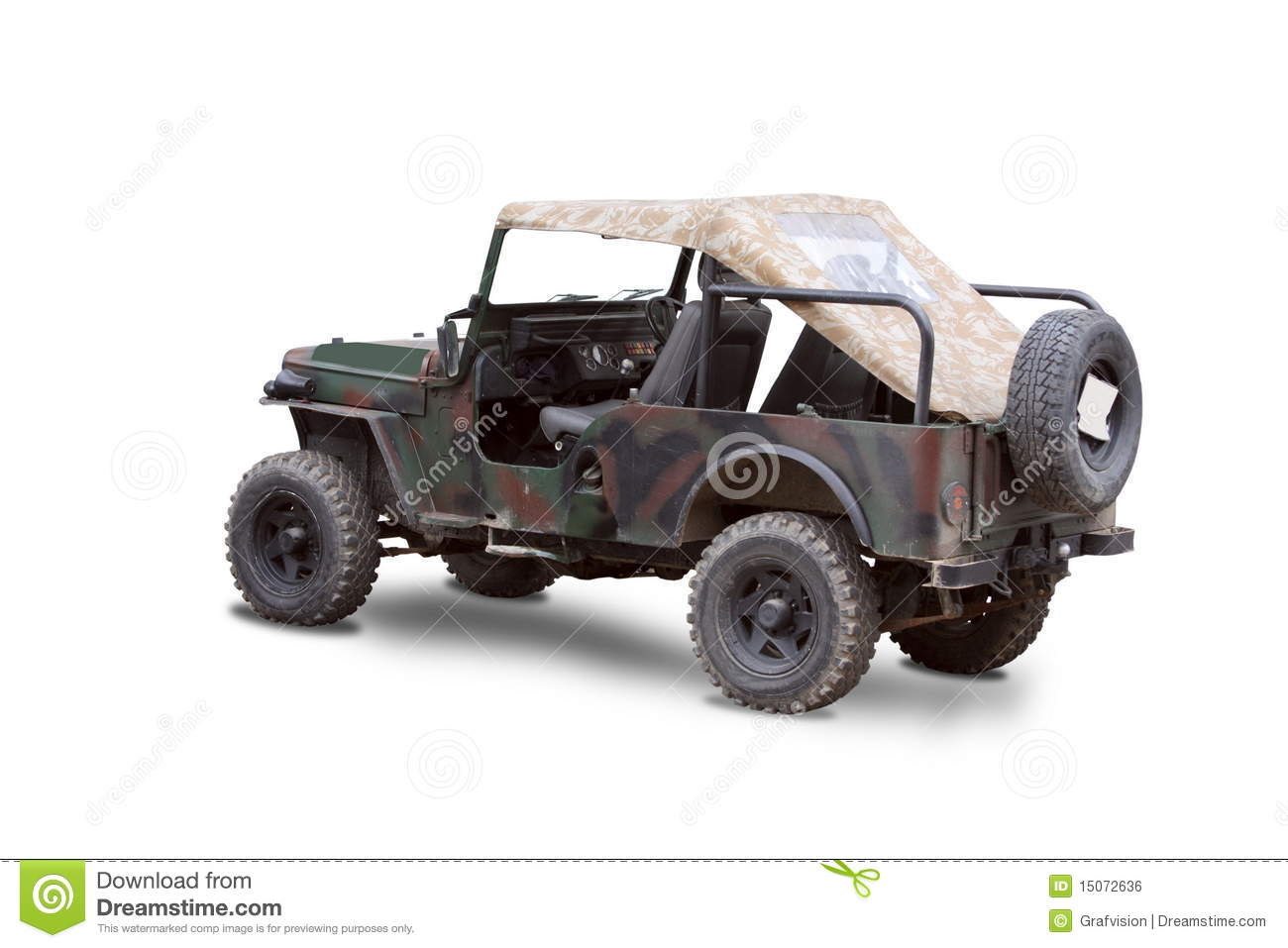 Old Military Jeep Royalty Free Stock Image Image 15072636