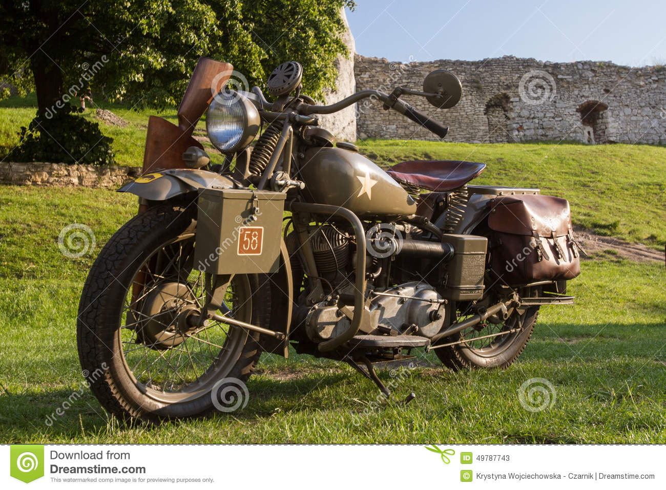Old Military Motorcycle From Wwii Editorial Stock Photo