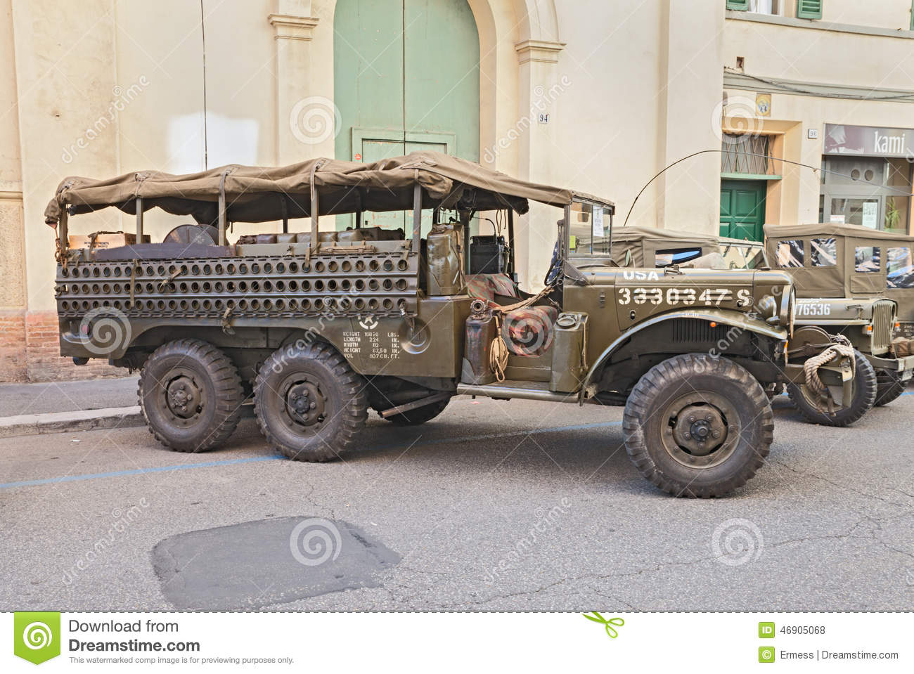 Dodge trucks in wwii - Old Military Truck Dodge Wc 52 Royalty Free Stock Photos