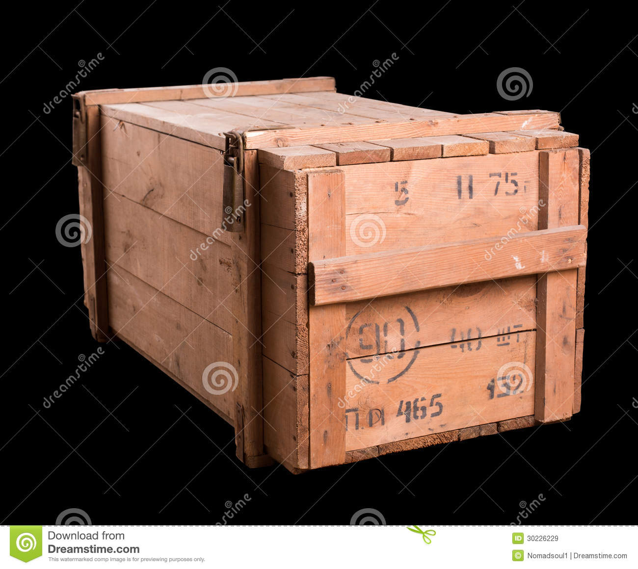 Old Military Wooden Box Royalty Free Stock Images Image