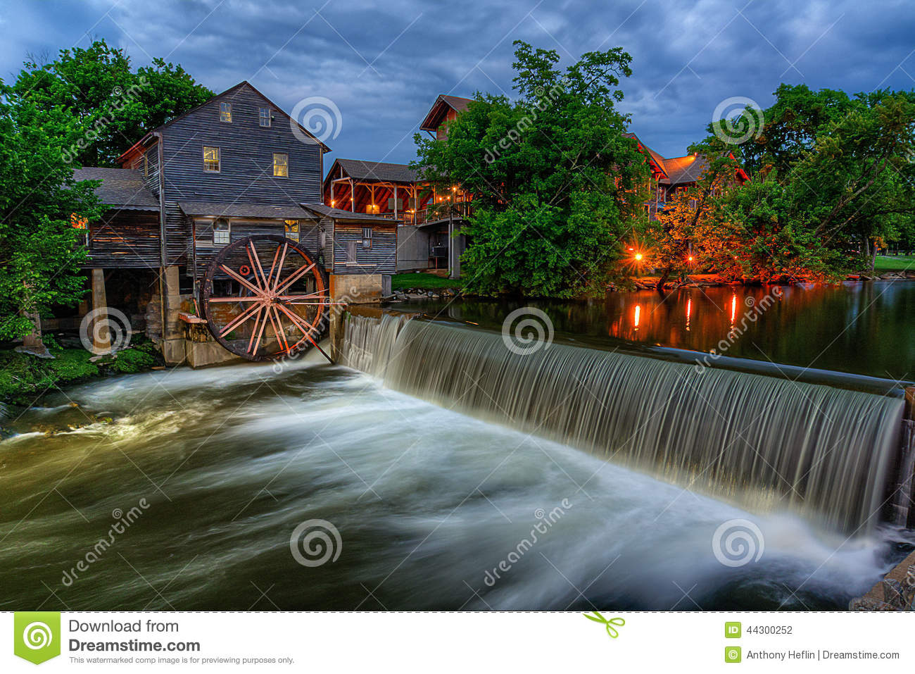 The Old Mill Pigeon Forge Tennessee Stock Photo Image