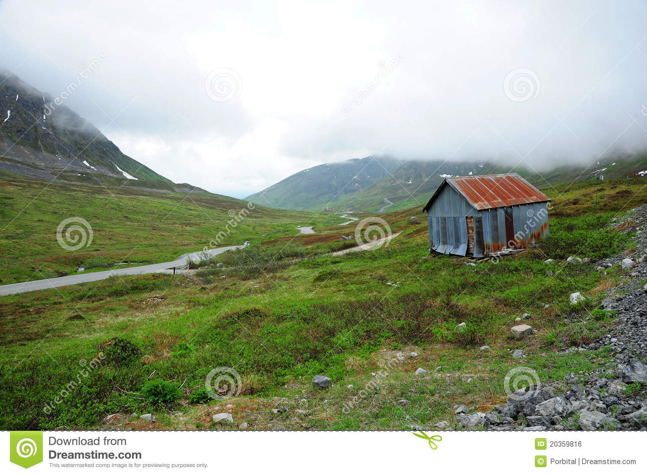Old mine cottage in mountain royalty free stock image for Cottage in the mountains