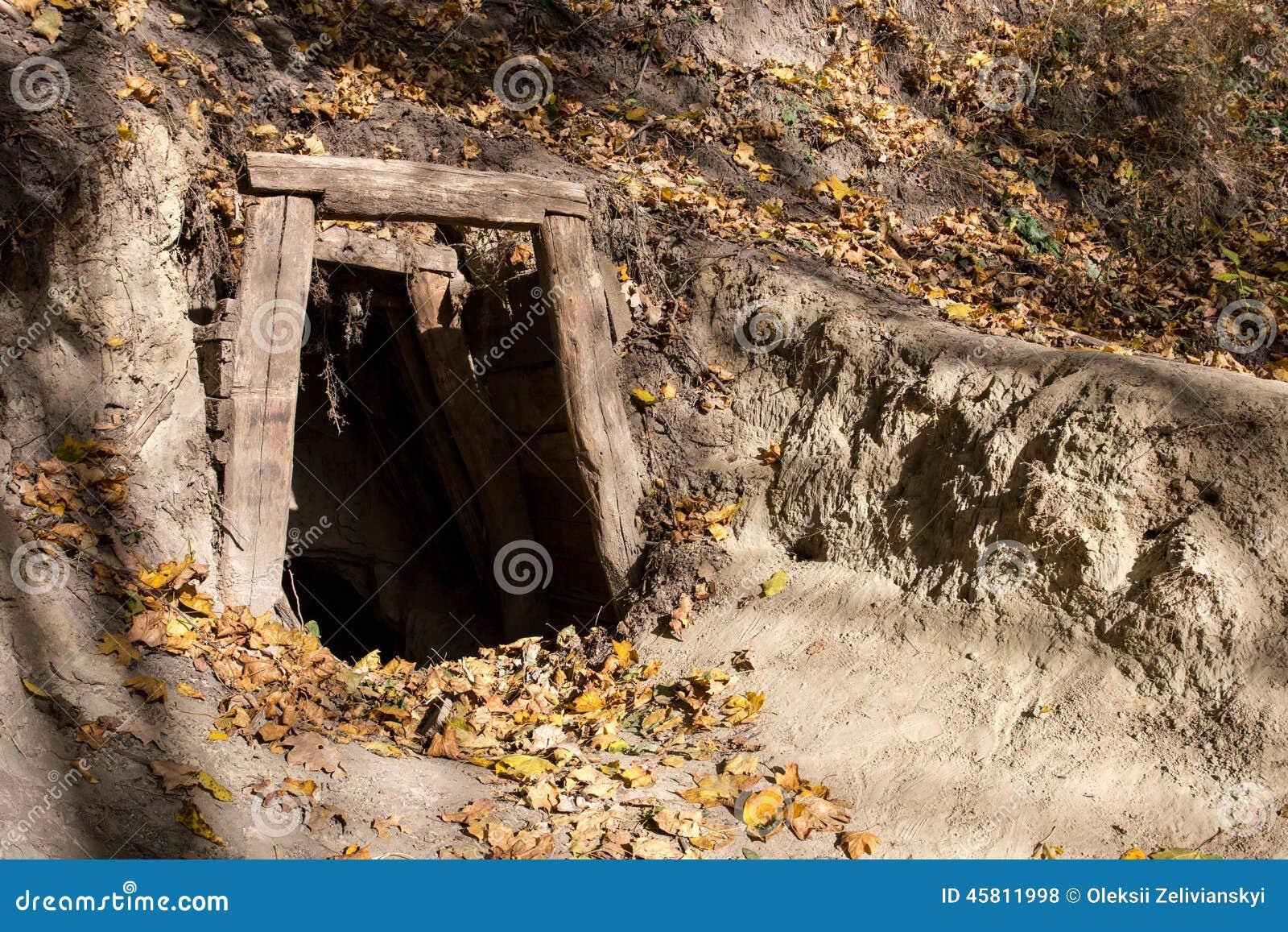 Old Mine Entrance Stock Photo - Image: 45811998