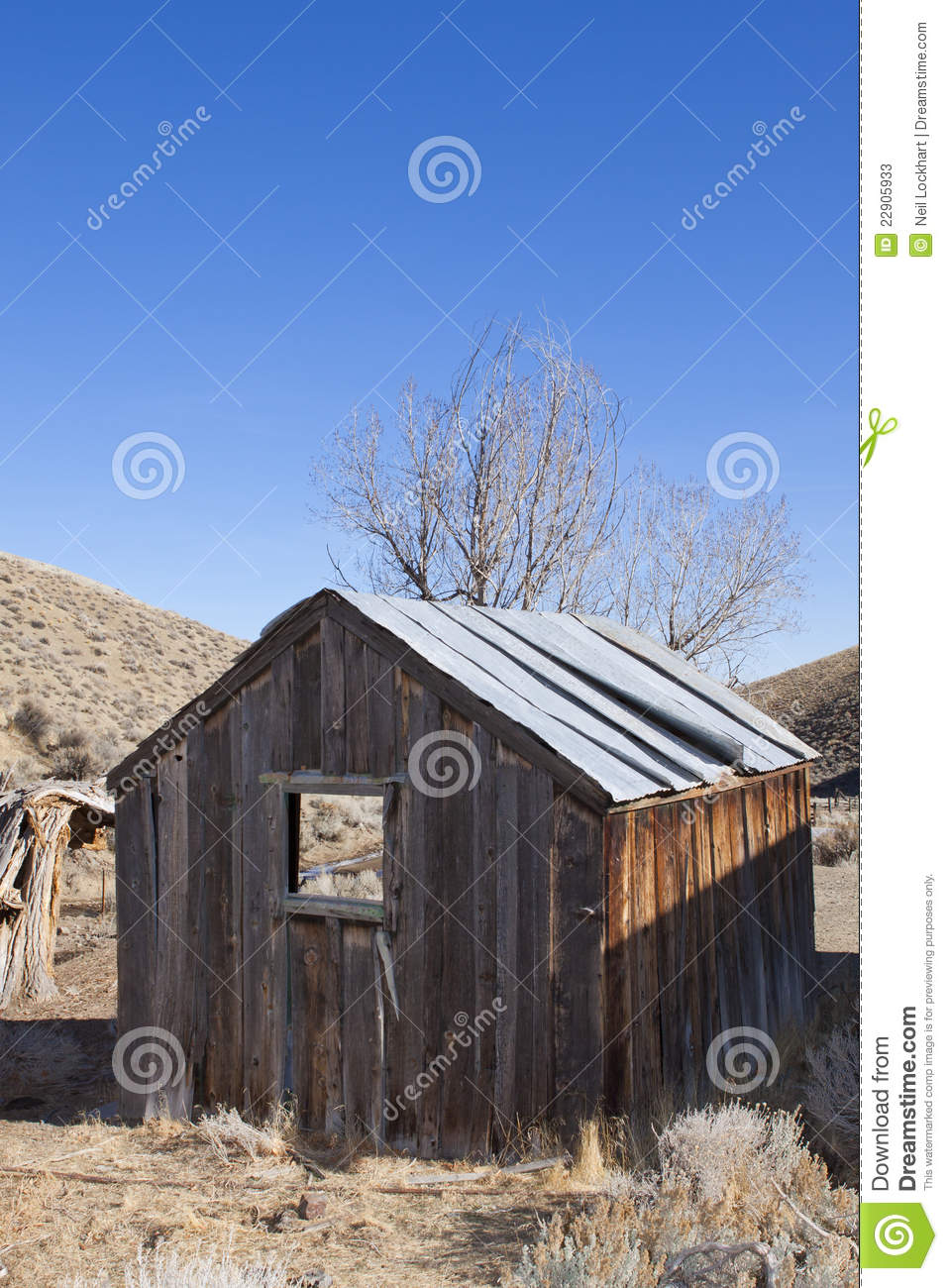 Old Miners Wood Shack Stock Photos Image 22905933