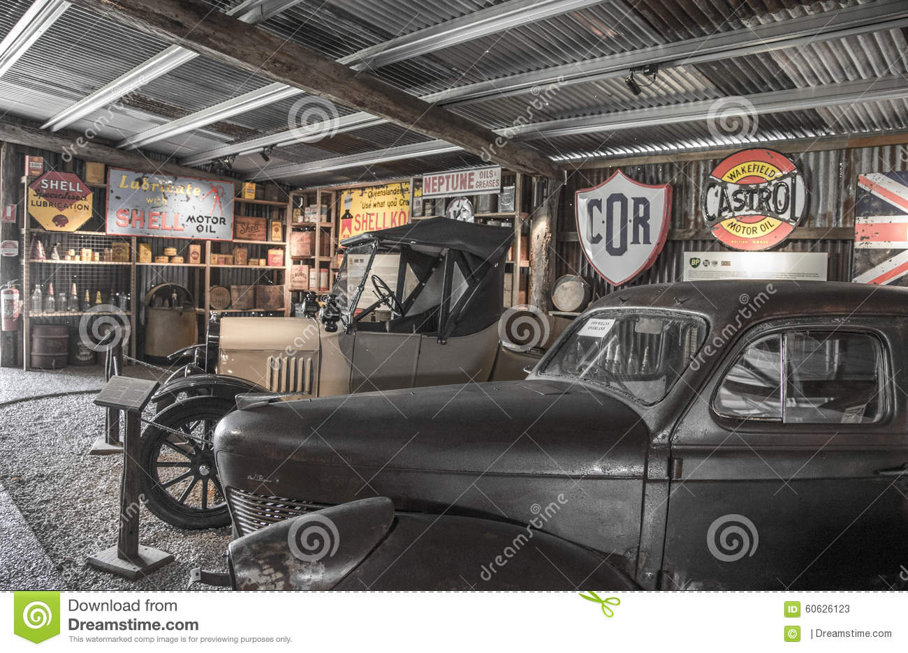 Old minetown car shop editorial stock photo. Image of aband - 60626123
