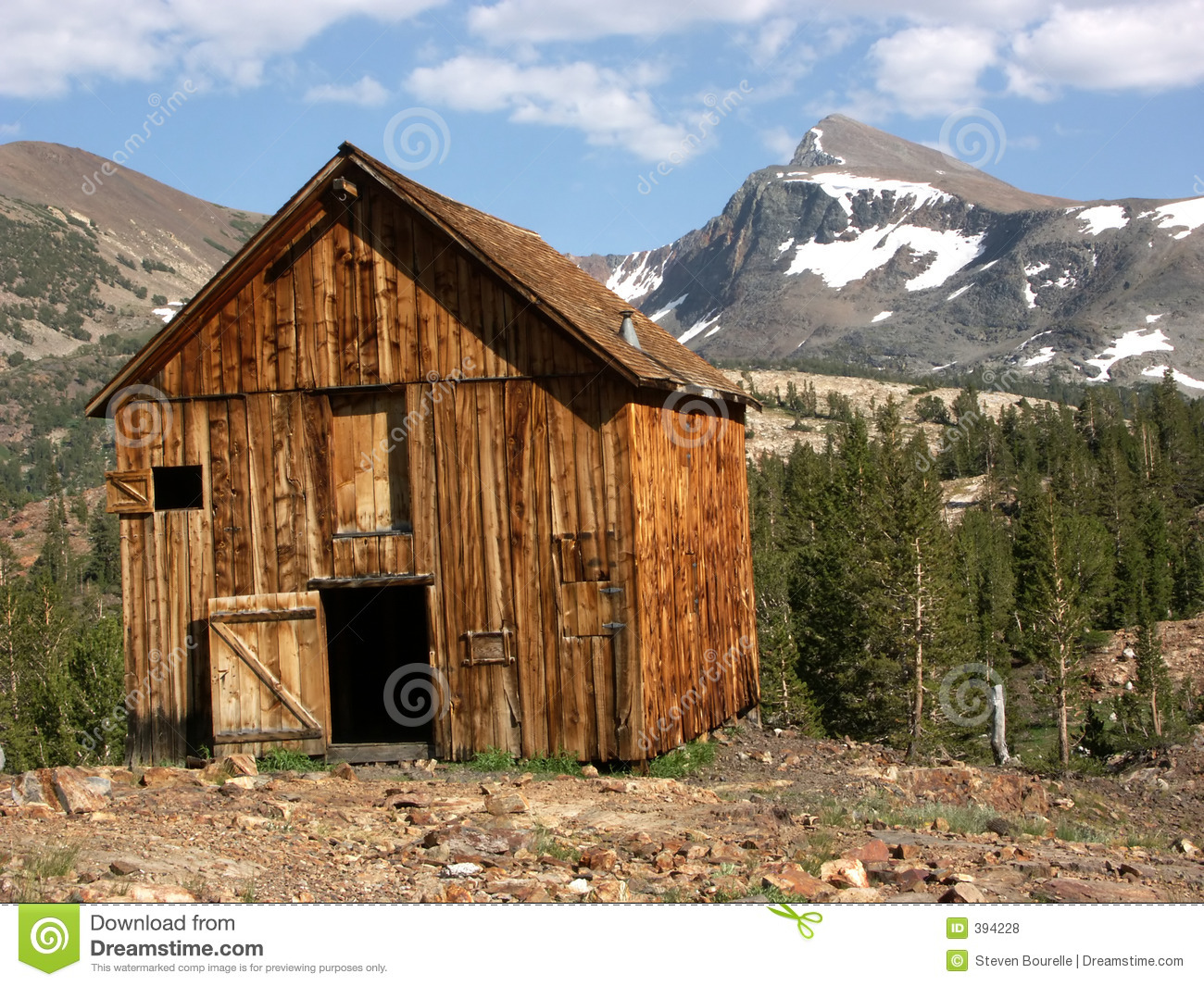 Old mining cabin royalty free stock photos image 394228 for Sierra nevada cabine