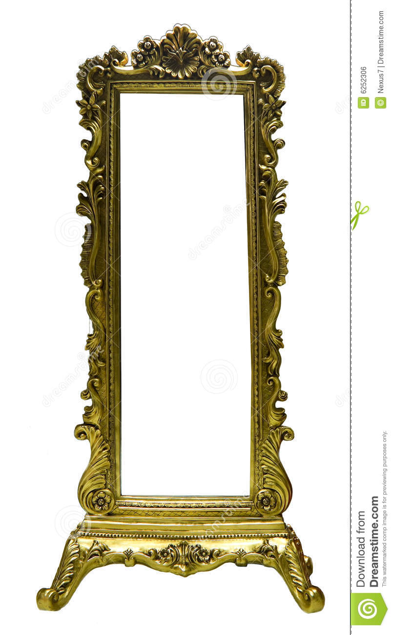 Old mirror frame stock photo image of vintage wood for How to make vintage frames