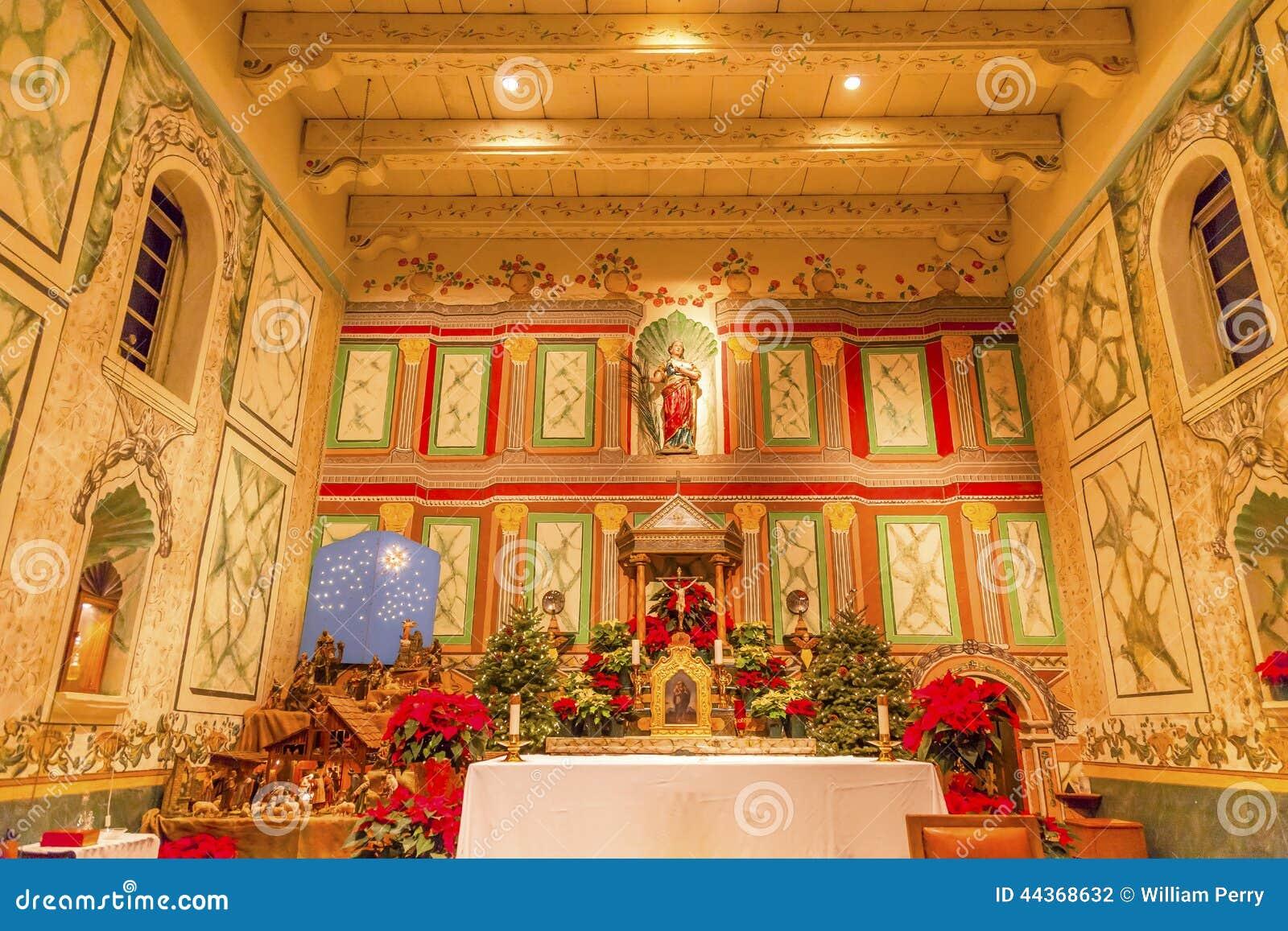 Solvang Ca Christmas.Old Mission Santa Ines Solvang California Basilica Altar