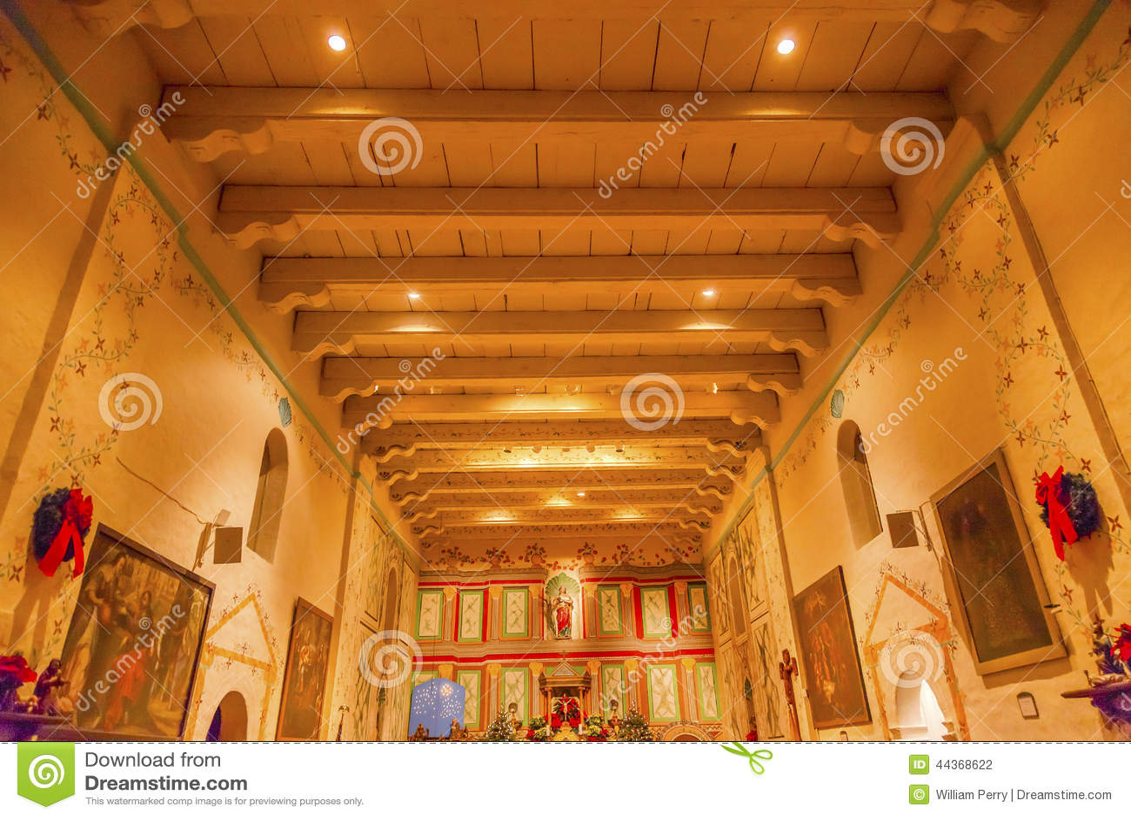 Download Old Mission Santa Ines Solvang California Basilica Altar Cross Stock Photo - Image of basilica, cross: 44368622