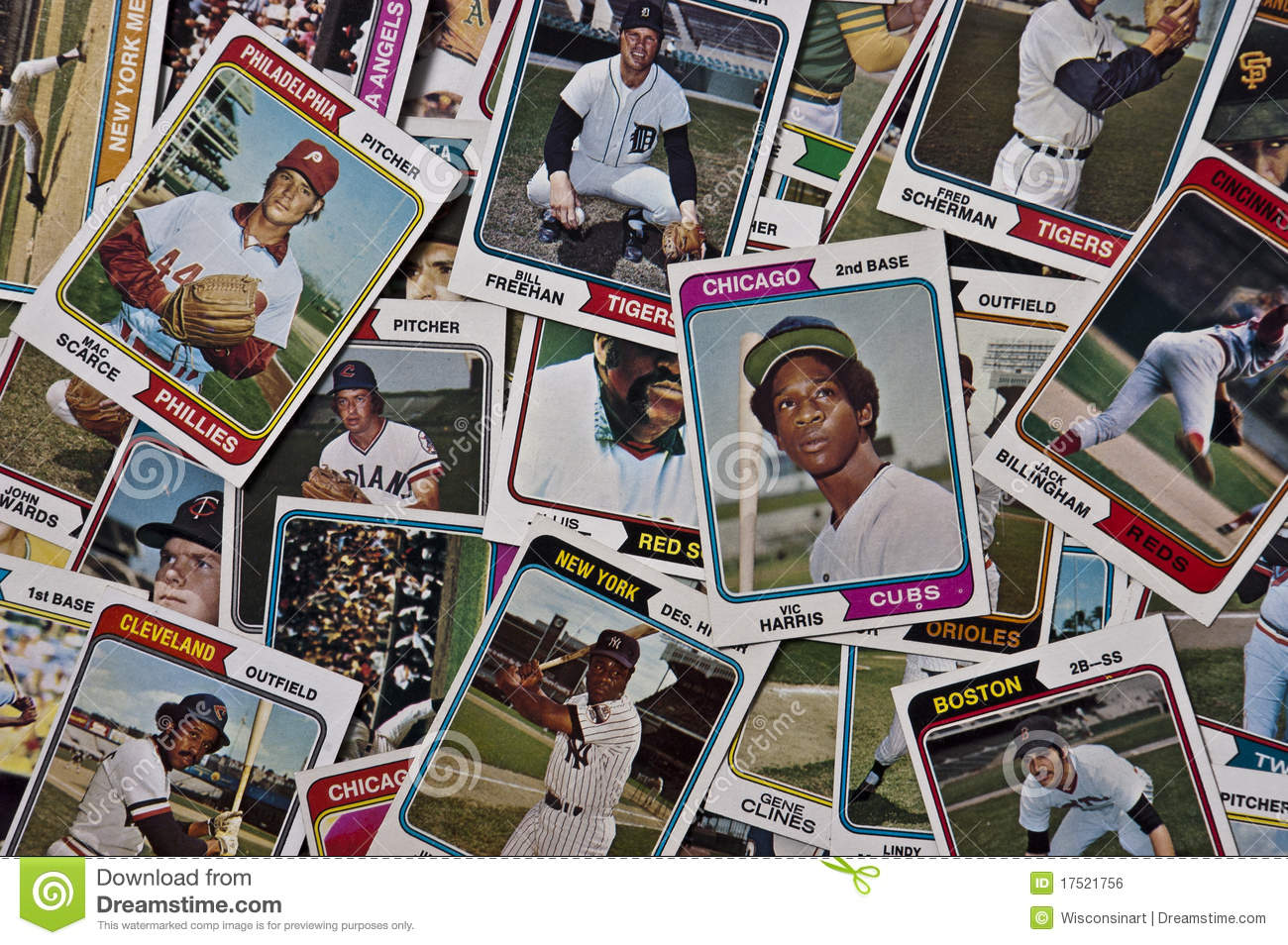 Old Mlb Baseballs Cards Vintage Sports Memorabilia Editorial Photo
