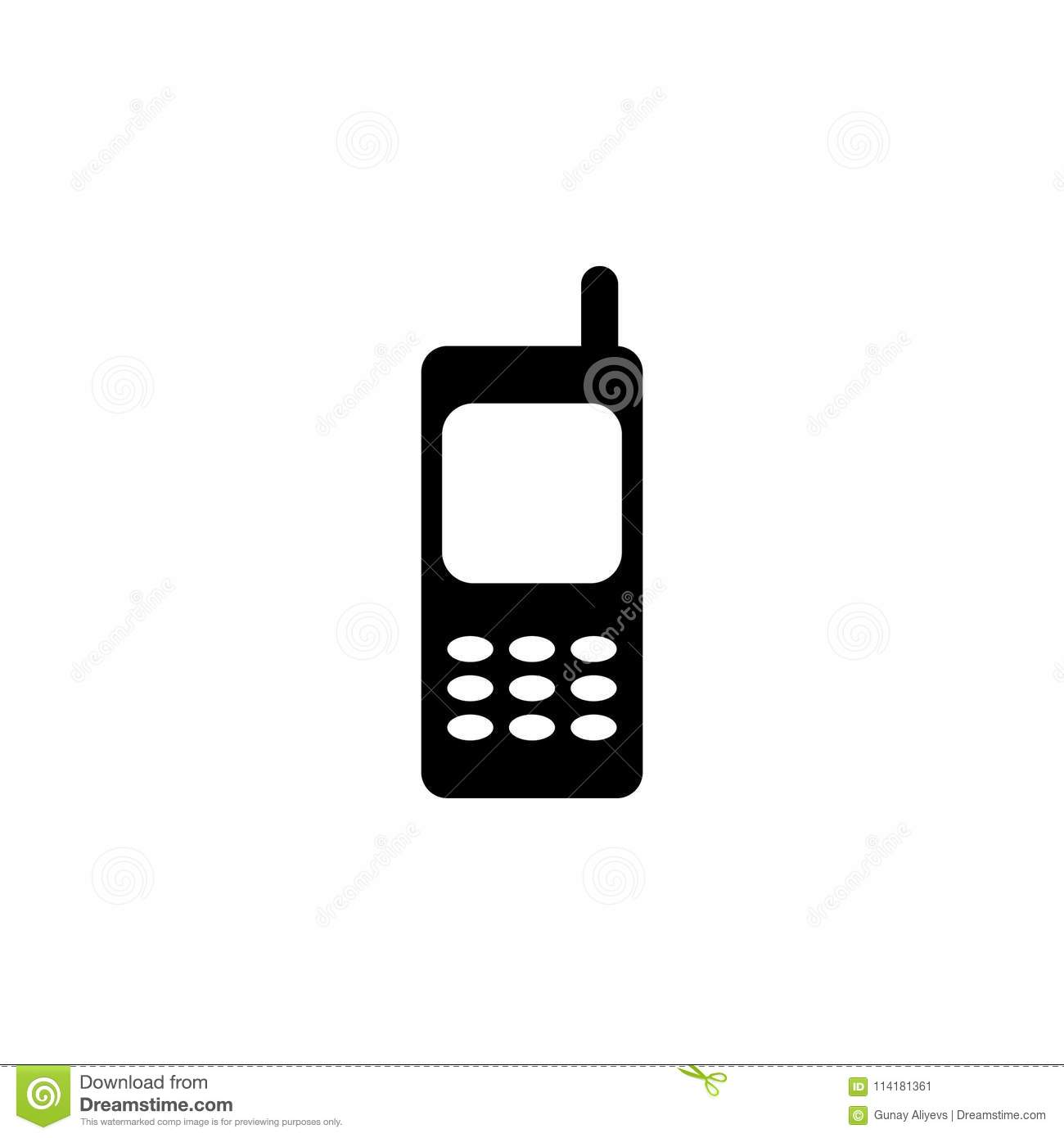 Old Mobile Phone With Antenna Icon Element Of Simple Icon For