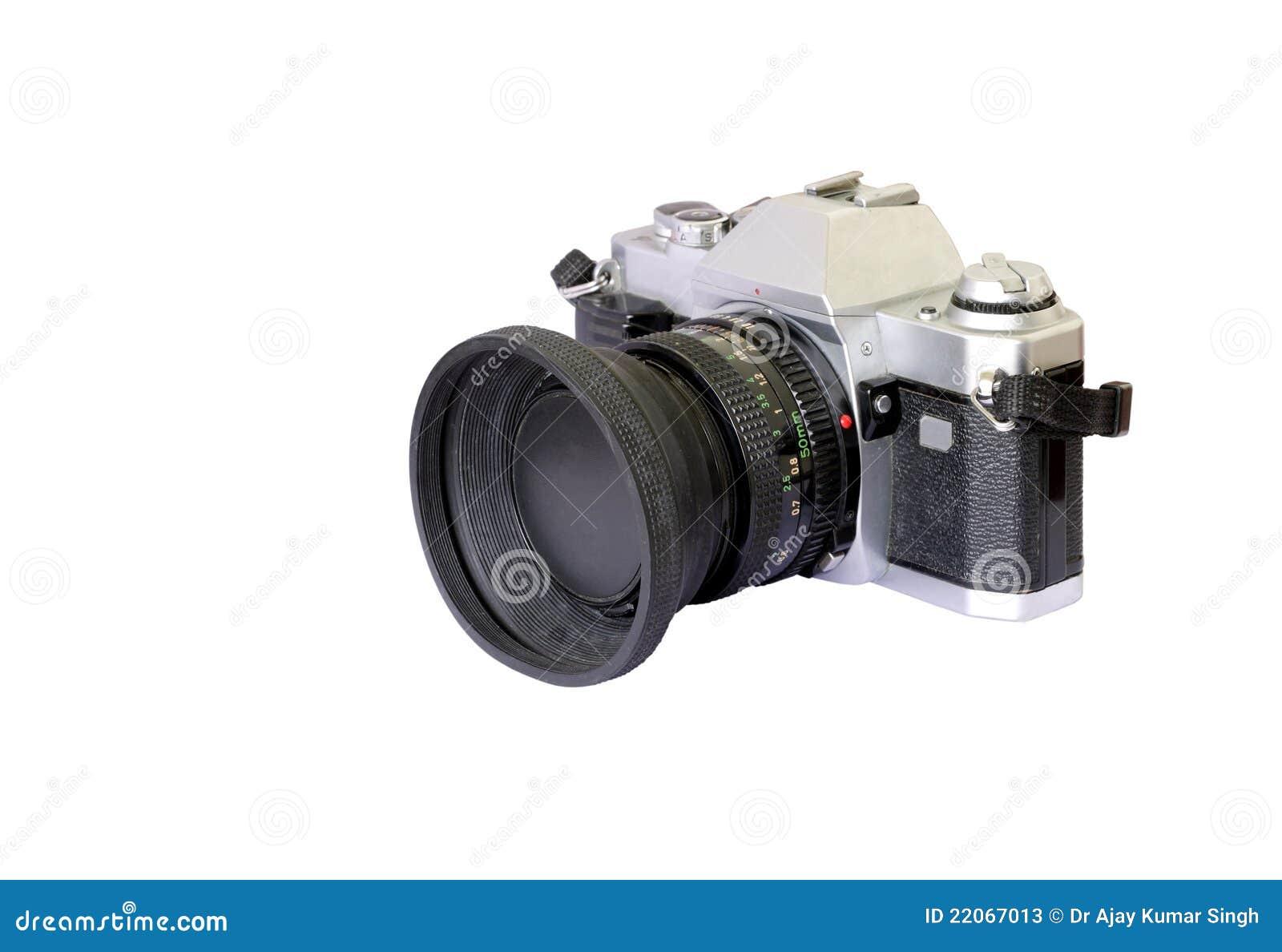 An old model analog camera stock image. Image of optical ...