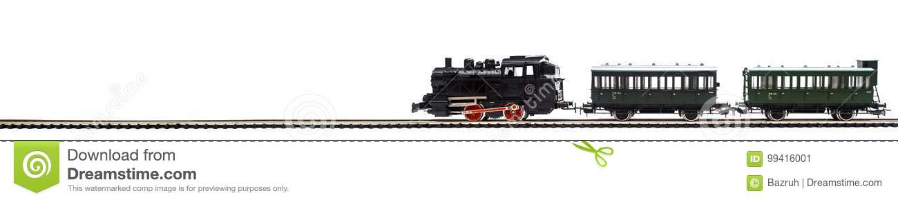 Old model of a passenger train