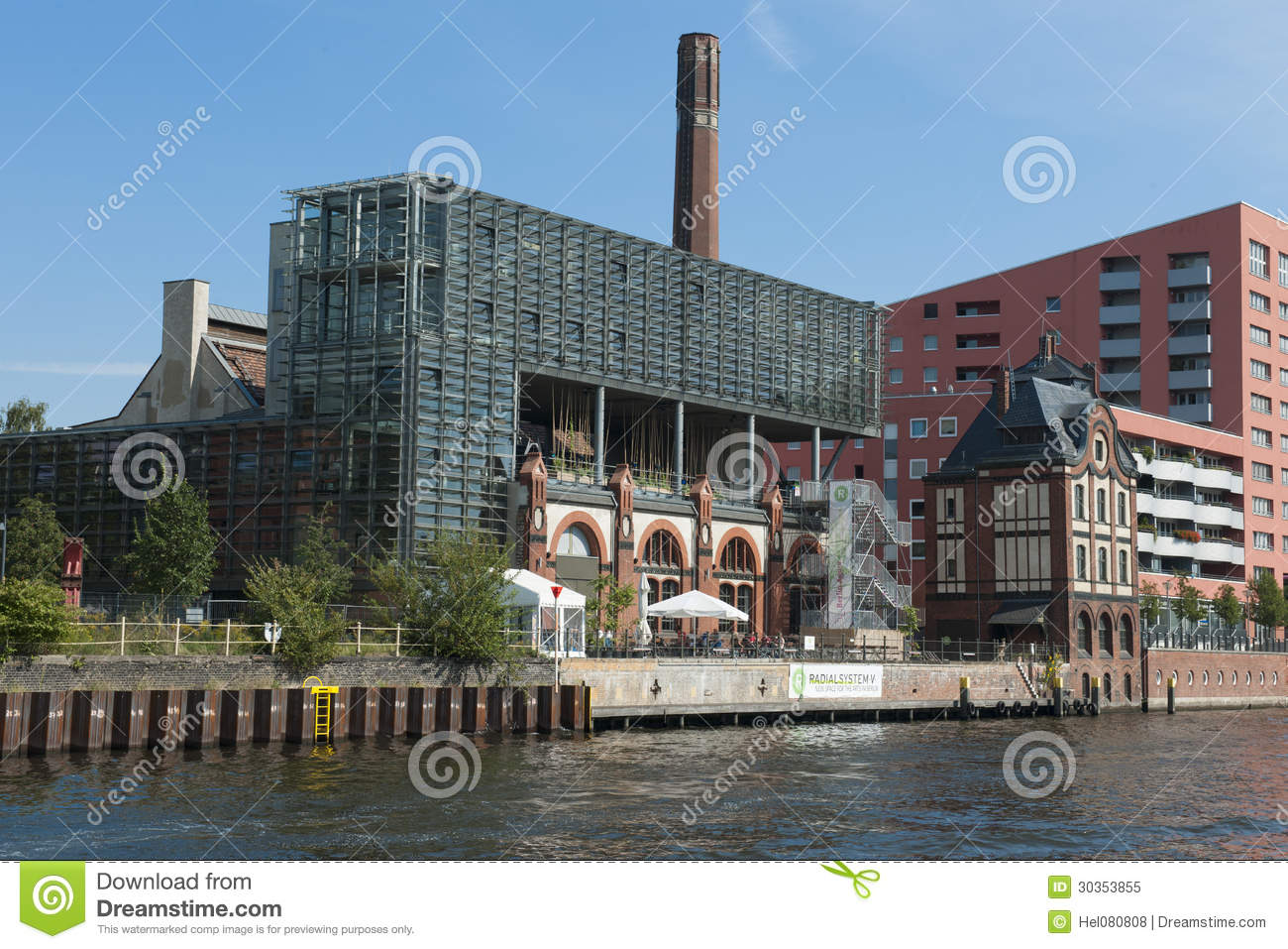 Modern Architecture Berlin old and modern architecture at river spree, berlin editorial image