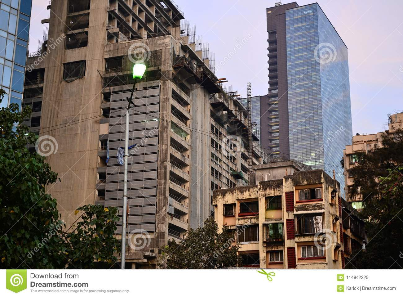 old and modern buildings in mumbai stock image image of finance
