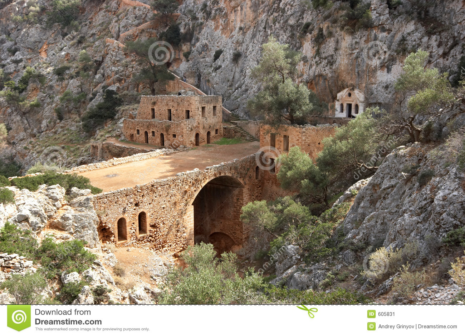 Old monastery with bridge
