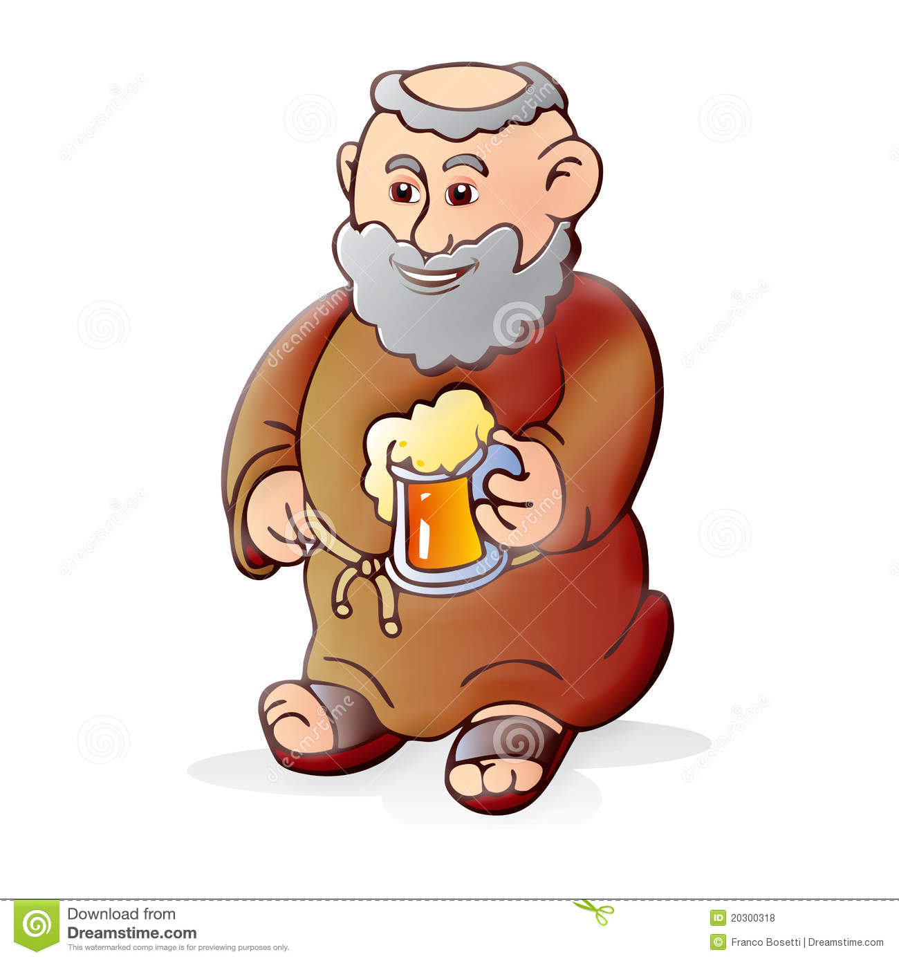 Cartoon Monk Beer Vector Art | Getty Images
